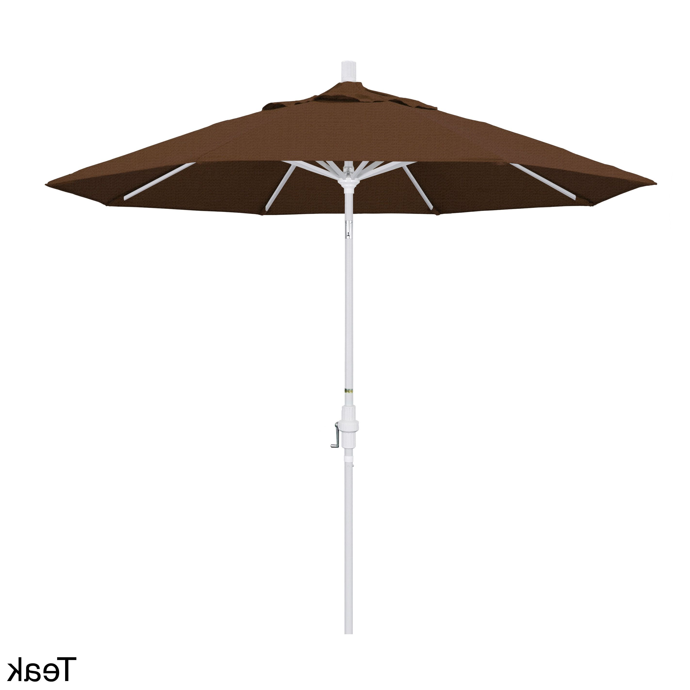 Mraz Market Umbrellas Throughout Famous California Umbrella 9' Rd. Market Umbrella, Deluxe Crank Lift With (Gallery 14 of 20)