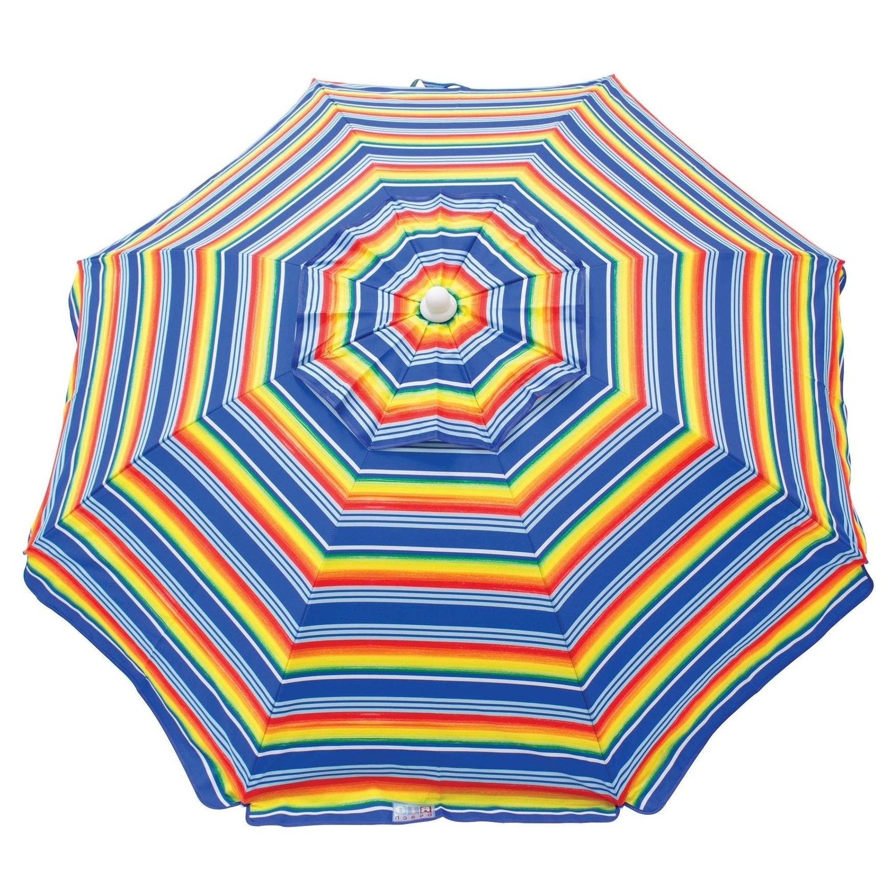 Mucci Madilyn Market Sunbrella Umbrellas In Fashionable Rio Beach 6 Ft. Beach Umbrella With Integrated Sand Anchor (Gallery 20 of 20)