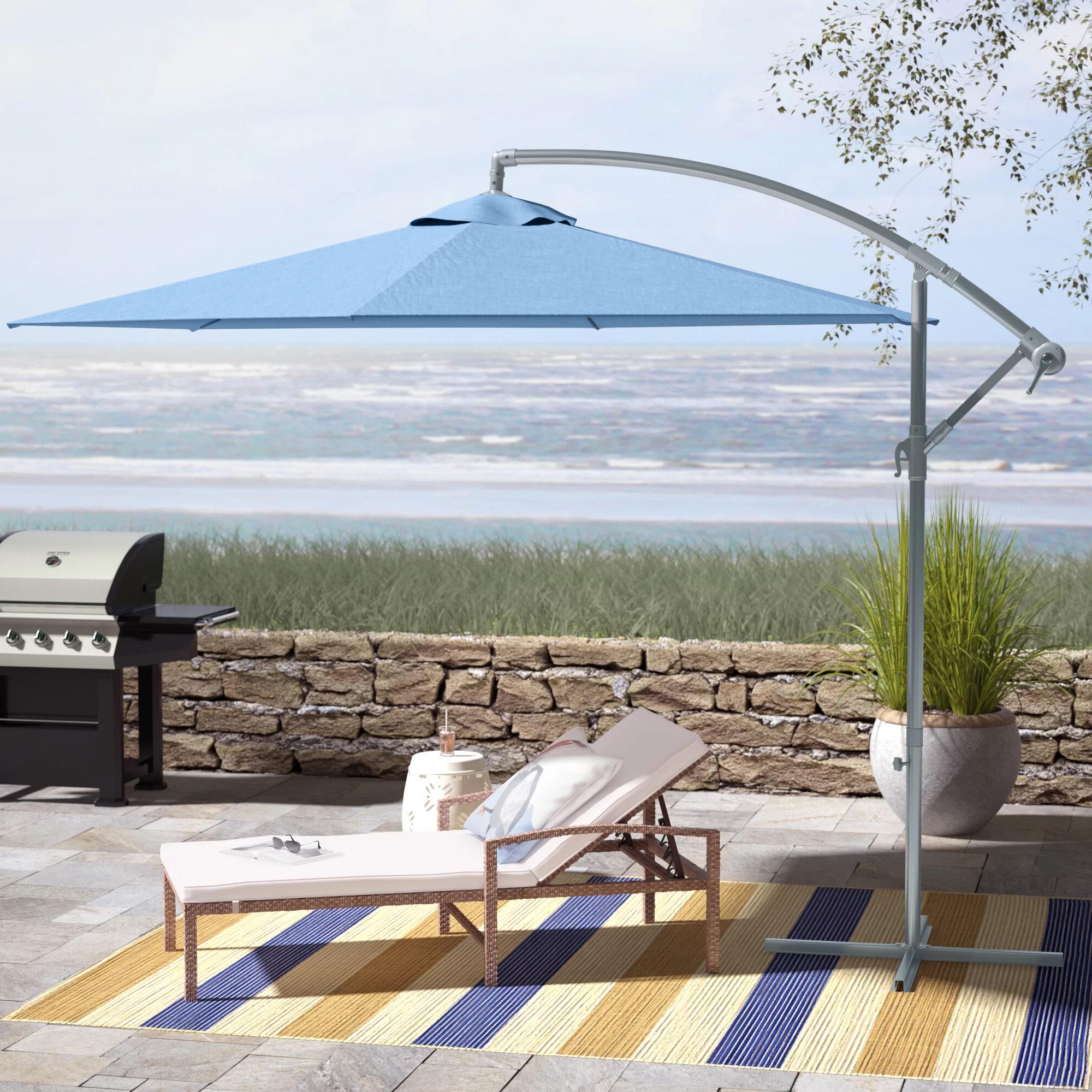Muhammad Fullerton 10' Cantilever Umbrella Regarding Widely Used Vassalboro Cantilever Umbrellas (View 9 of 20)