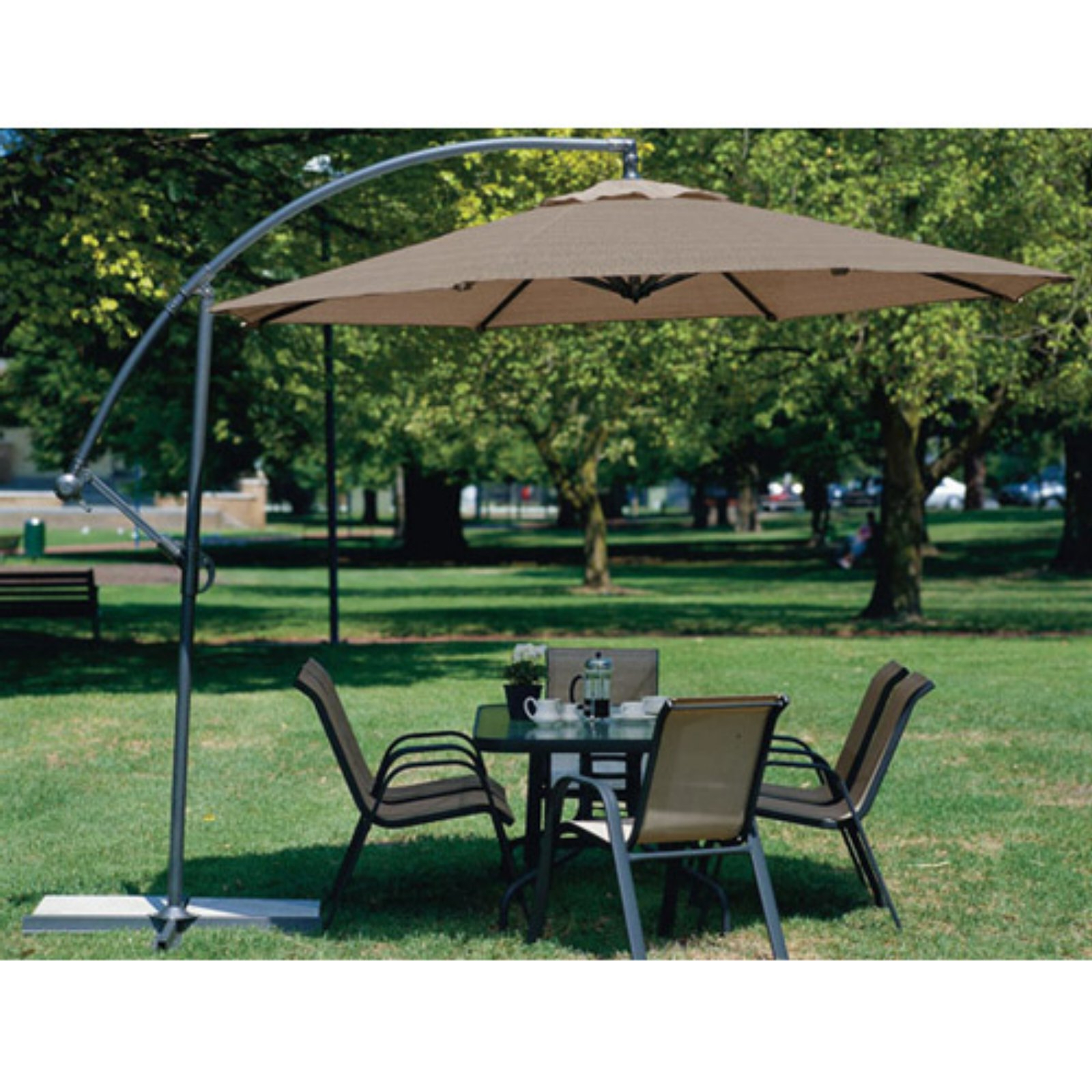 Muhammad Fullerton Cantilever Umbrellas For Current Patio Umbrella: Coolaroo 10 Ft. Offset Patio Umbrella In 2019 (Gallery 12 of 20)