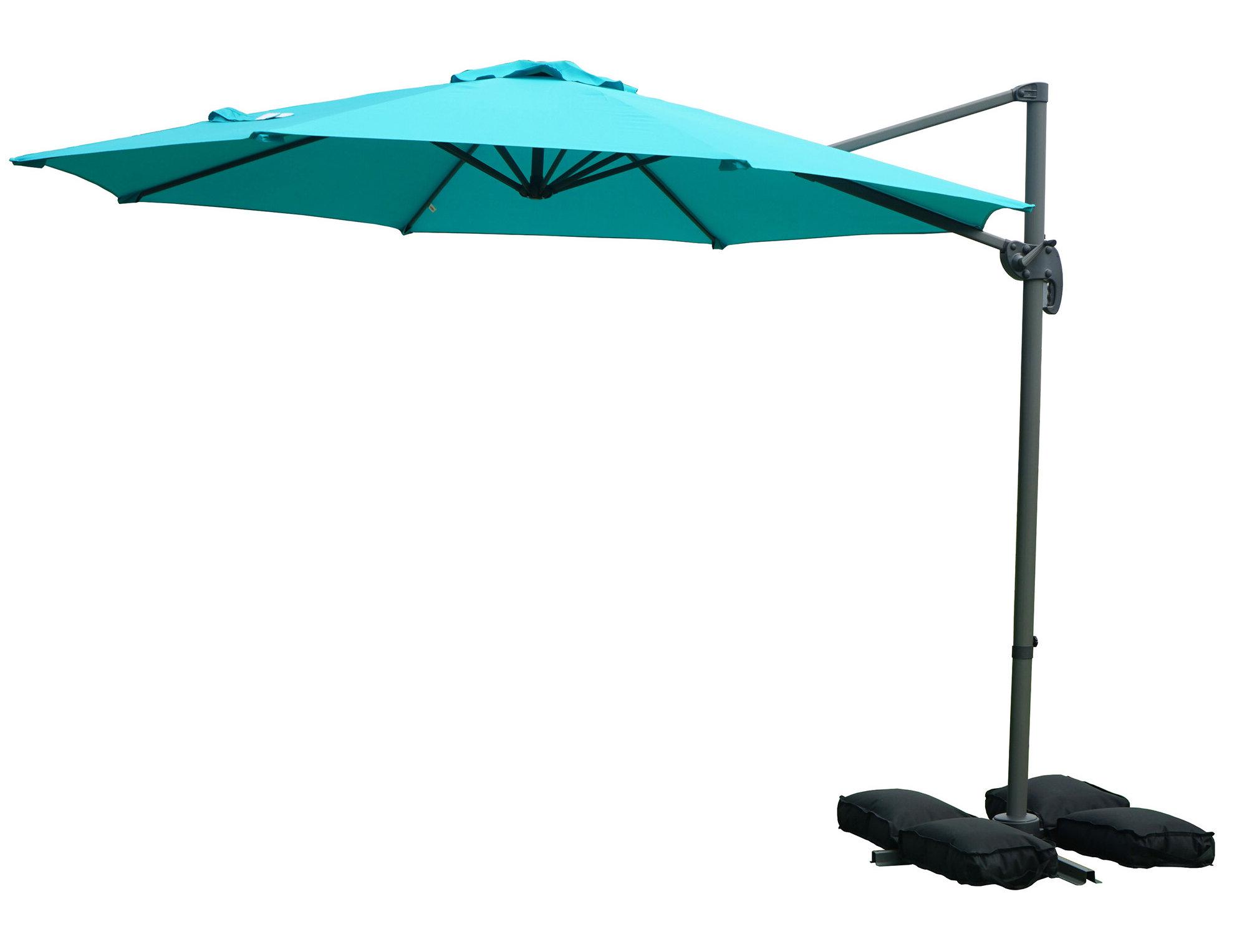 Muhammad Fullerton Cantilever Umbrellas Throughout Recent Tottenham Patio Hanging Offset 10' Cantilever Umbrella (View 17 of 20)
