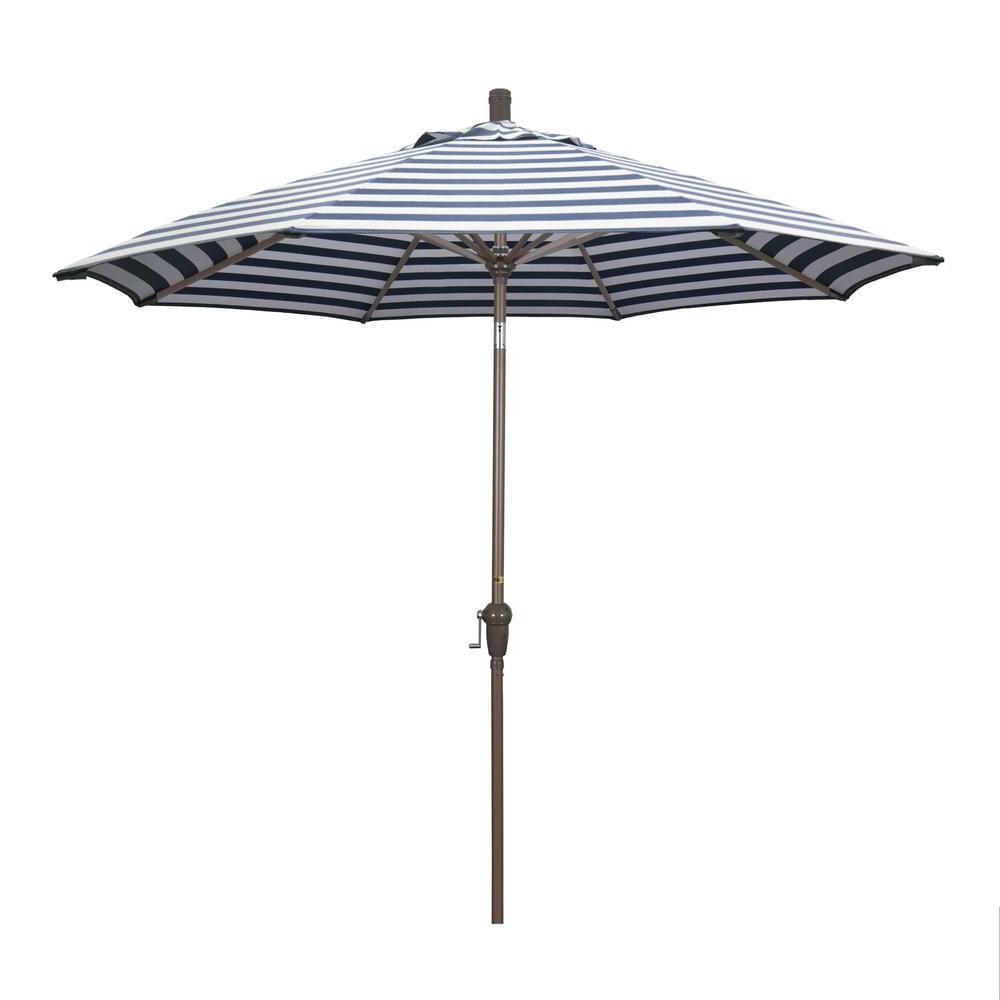 Mullaney Market Sunbrella Umbrellas With 2020 California Umbrella 9 Ft. Aluminum Market Auto Tilt Champagne Patio (Gallery 12 of 20)