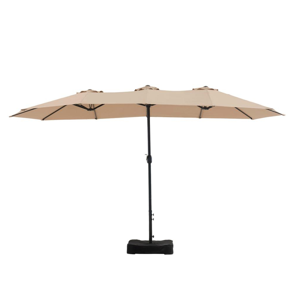 Mullaney Market Umbrellas For Favorite Sunjoy Mullaney 15 Ft. Market Patio Umbrella In Beige (Gallery 2 of 20)