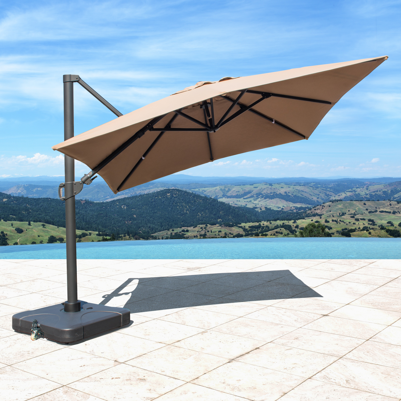 Nasiba Square Cantilever Sunbrella Umbrellas Throughout Recent Freeport Park Bridgwater (View 4 of 20)