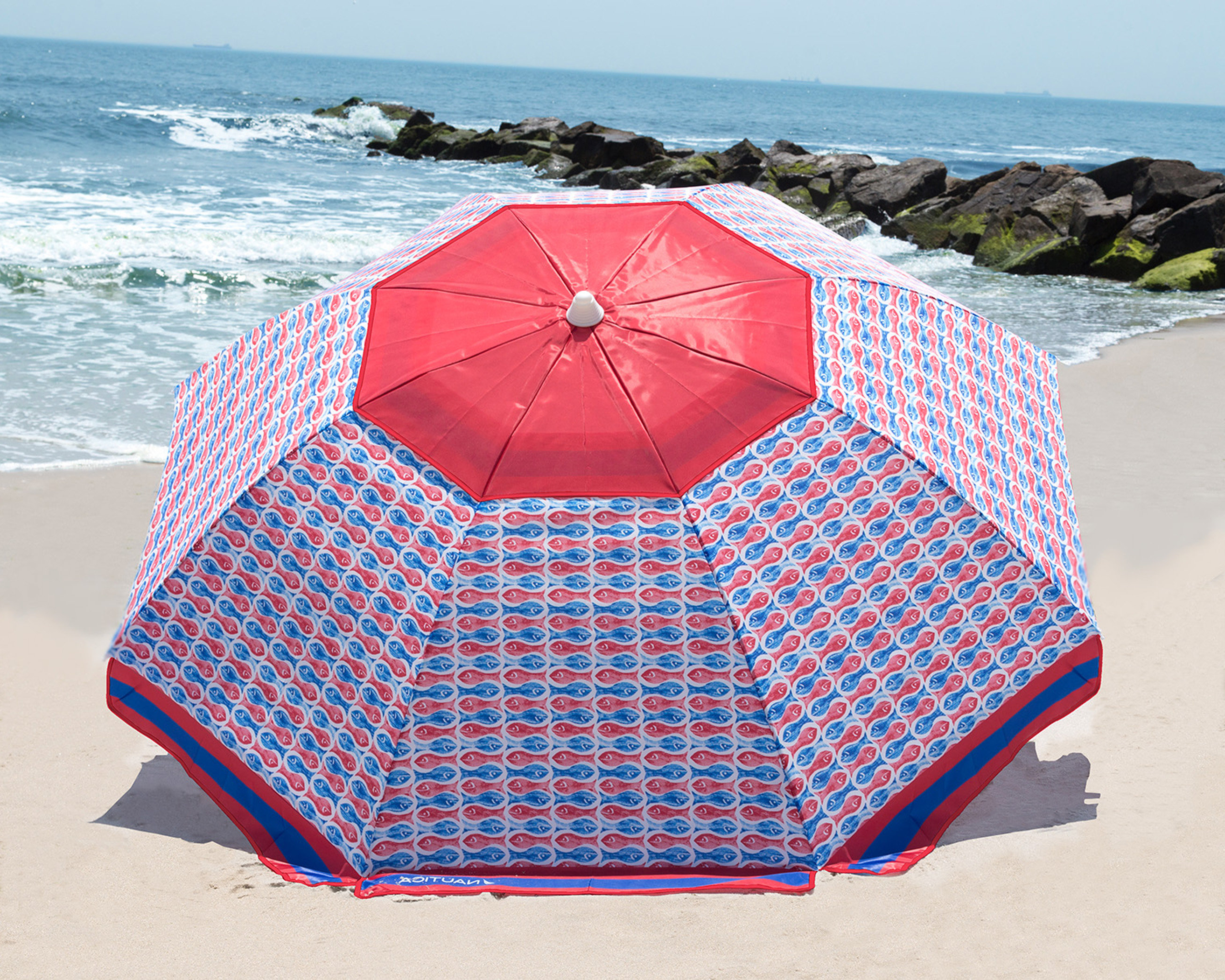 Nautica 7' Beach Umbrella Pertaining To Most Current Smithmill Beach Umbrellas (View 10 of 20)
