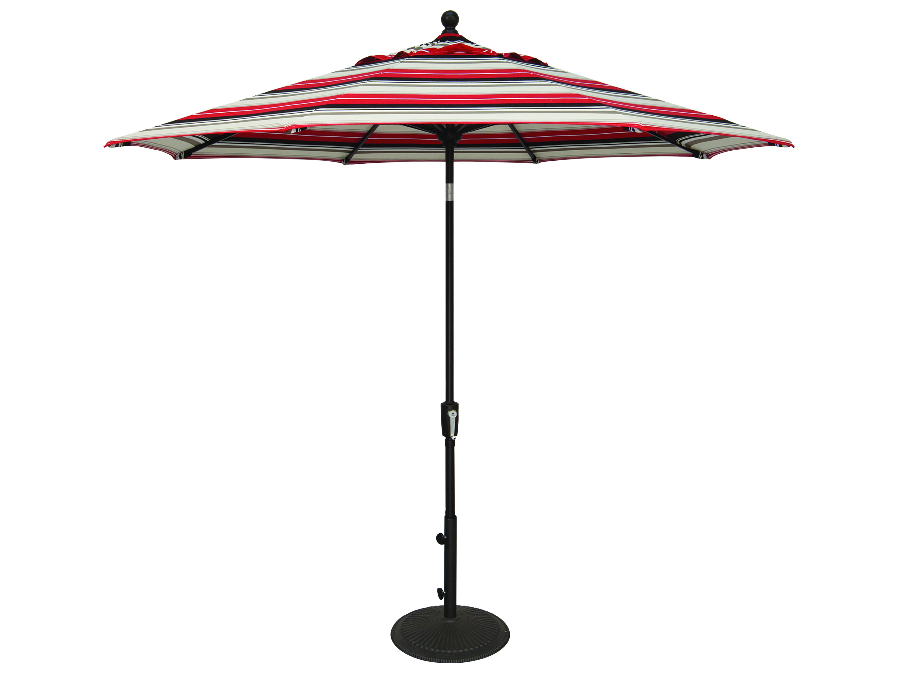New Haven Market Umbrellas Inside Recent Treasure Garden Market Aluminum 9' Foot Wide Crank Lift Push Button Tilt  Umbrella (View 14 of 20)