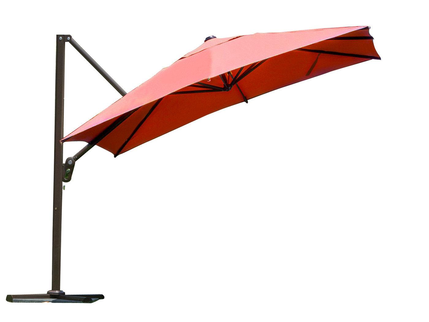 Newest 9' Square Cantilever Umbrella For Fazeley Rectangular Cantilever Umbrellas (View 20 of 20)