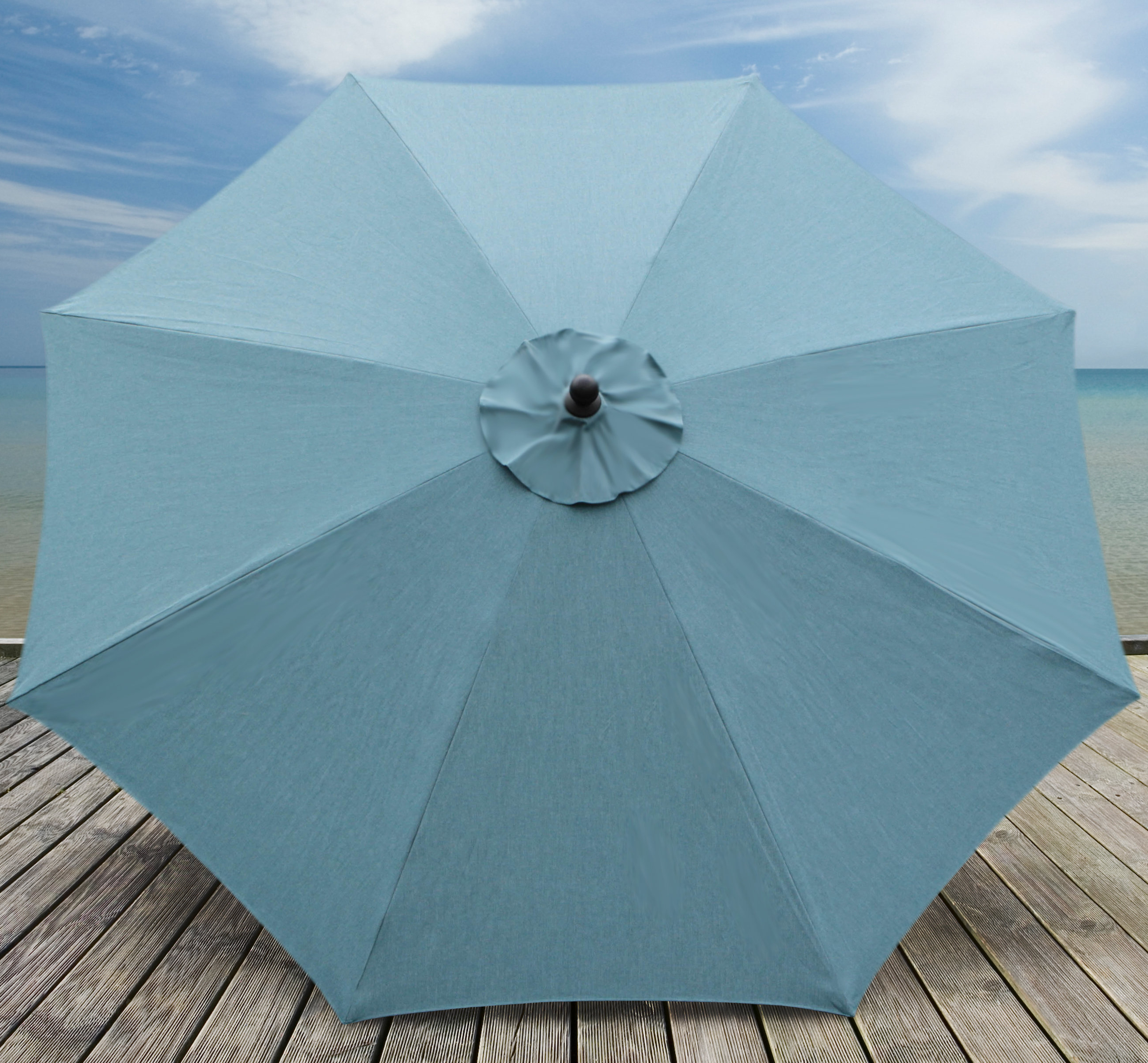 Newest Beachcrest Home Mucci Madilyn 10' Market Sunbrella Umbrella Within Mucci Madilyn Market Sunbrella Umbrellas (Gallery 4 of 20)
