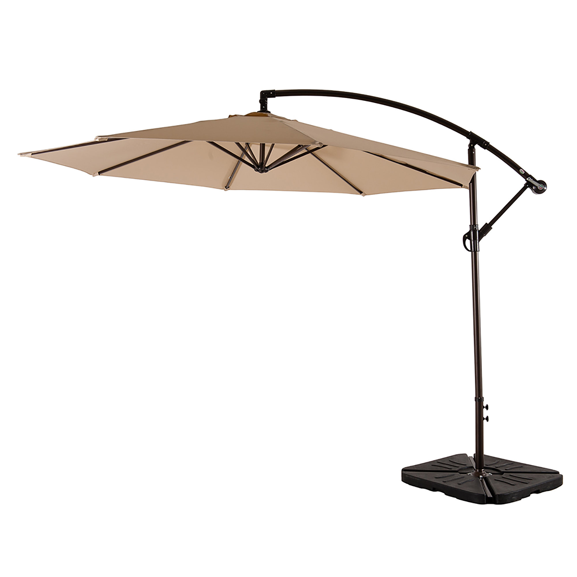 Newest Bostic Cantilever Umbrellas Within Kizzie Market 10' Cantilever Umbrella (Gallery 7 of 20)