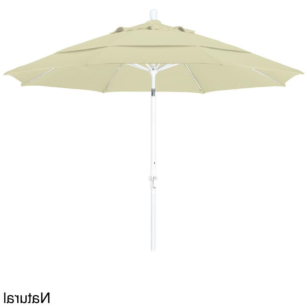 Newest California Umbrella 11' Rd. Alum/fiberglass Rib Market Umb,crank Regarding Mraz Market Umbrellas (Gallery 18 of 20)