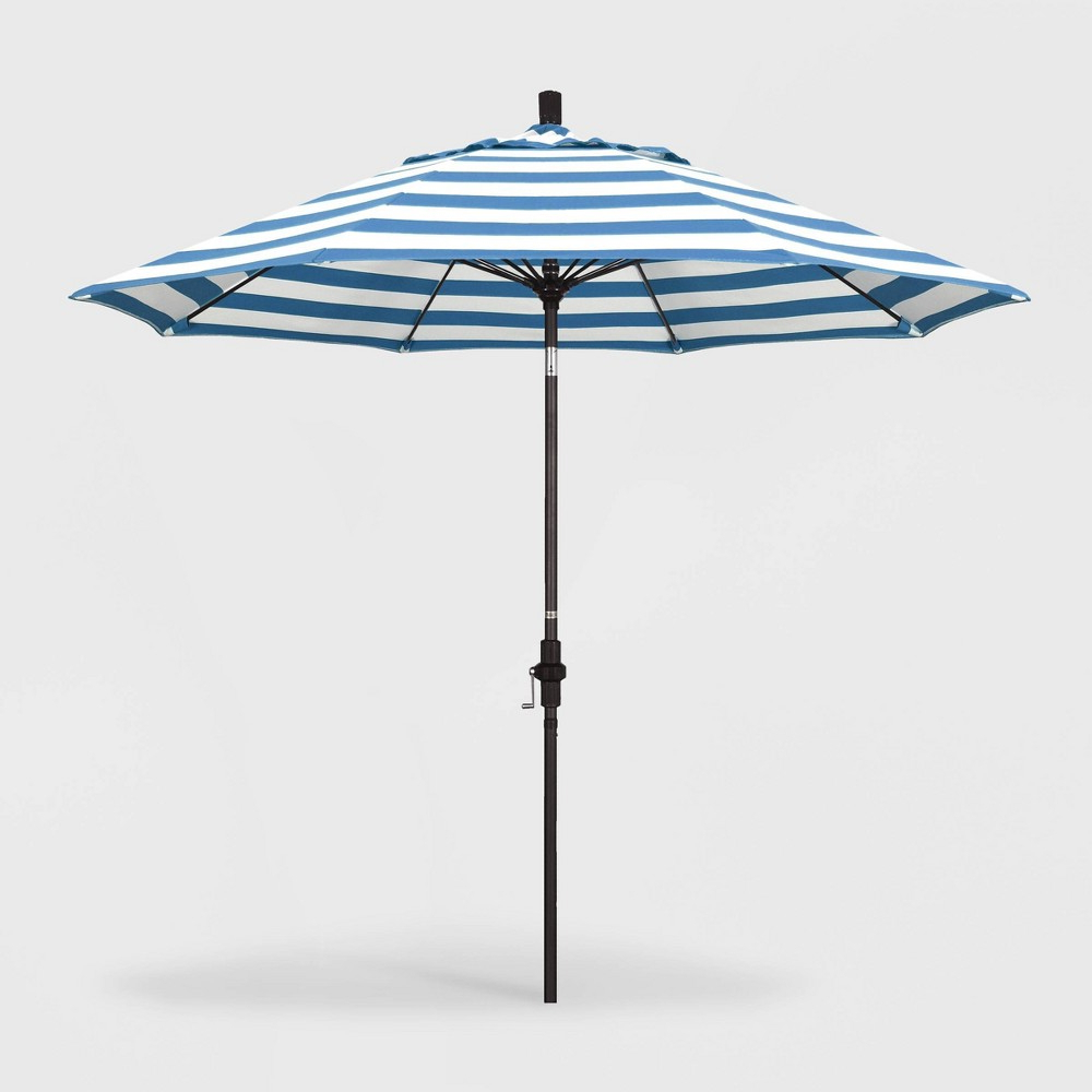Newest Caravelle Market Umbrellas In 9' Sun Master Patio Umbrella Collar Tilt Crank Lift – Sunbrella (View 12 of 20)