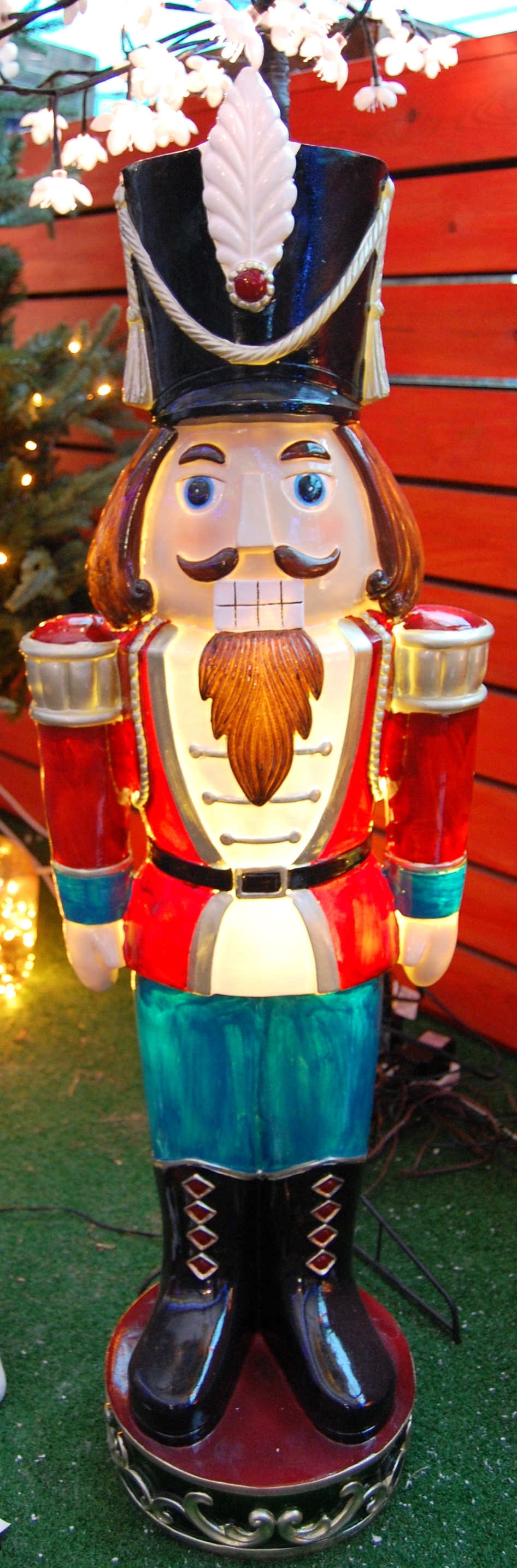 Newest Coggeshall Led Lighted Market Umbrellas With Large Nutcracker With Light 92Cmfountasia (View 14 of 20)