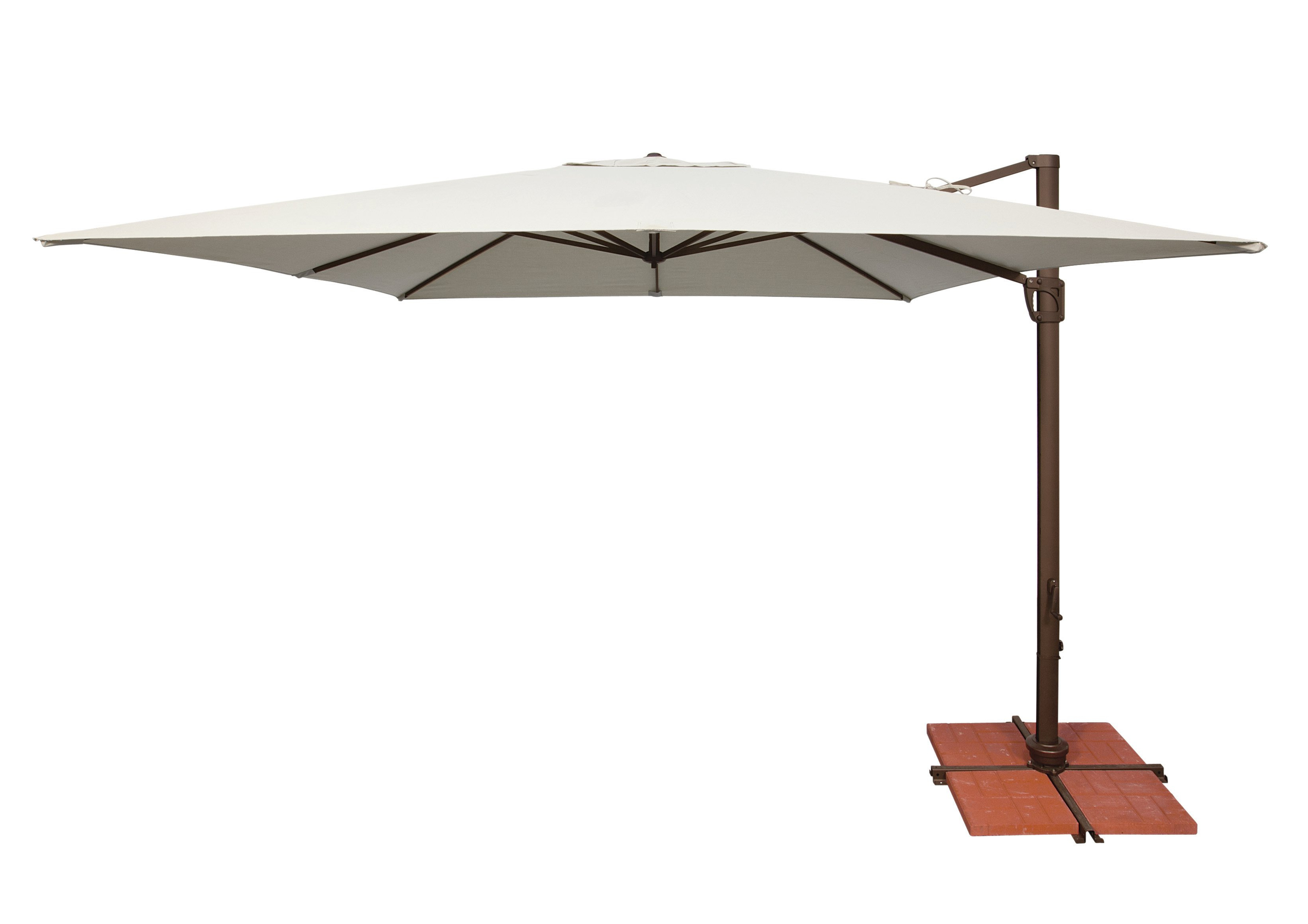 Newest Emely Cantilever Sunbrella Umbrellas With Windell 10' Square Cantilever Umbrella (Gallery 16 of 20)