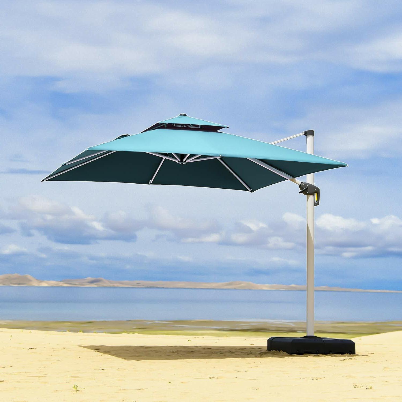 Newest Freeport Park Maidste 9' Square Cantilever Umbrella Pertaining To Maidste Square Cantilever Umbrellas (Gallery 8 of 20)