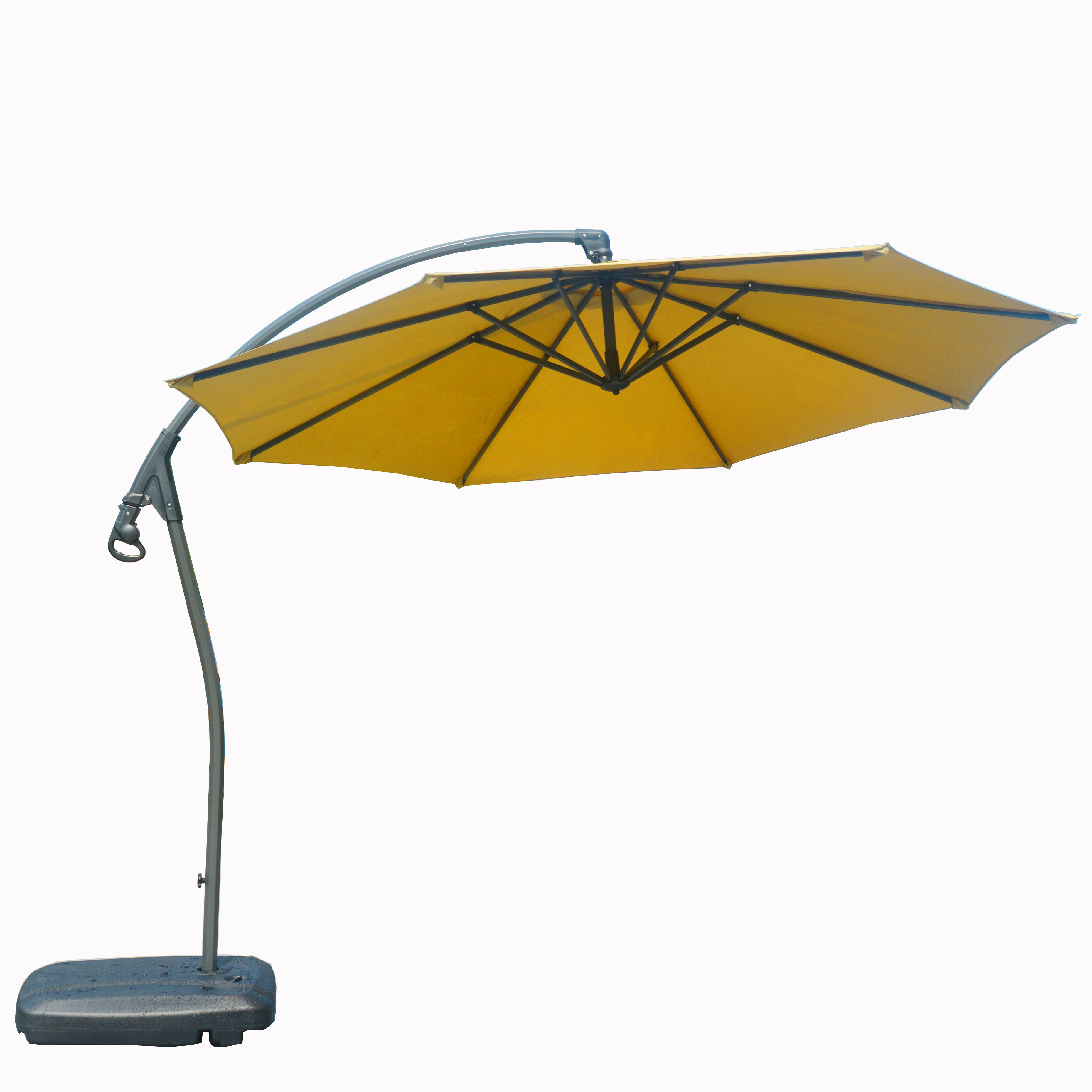 Newest Hemmer 10' Cantilever Umbrella Inside Trotman Cantilever Umbrellas (View 16 of 20)