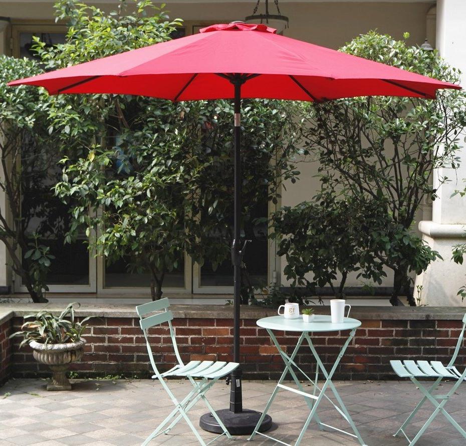 Newest Hollinger 9' Market Umbrella Pertaining To Lonoke Patio Rectangular Market Umbrellas (View 15 of 20)