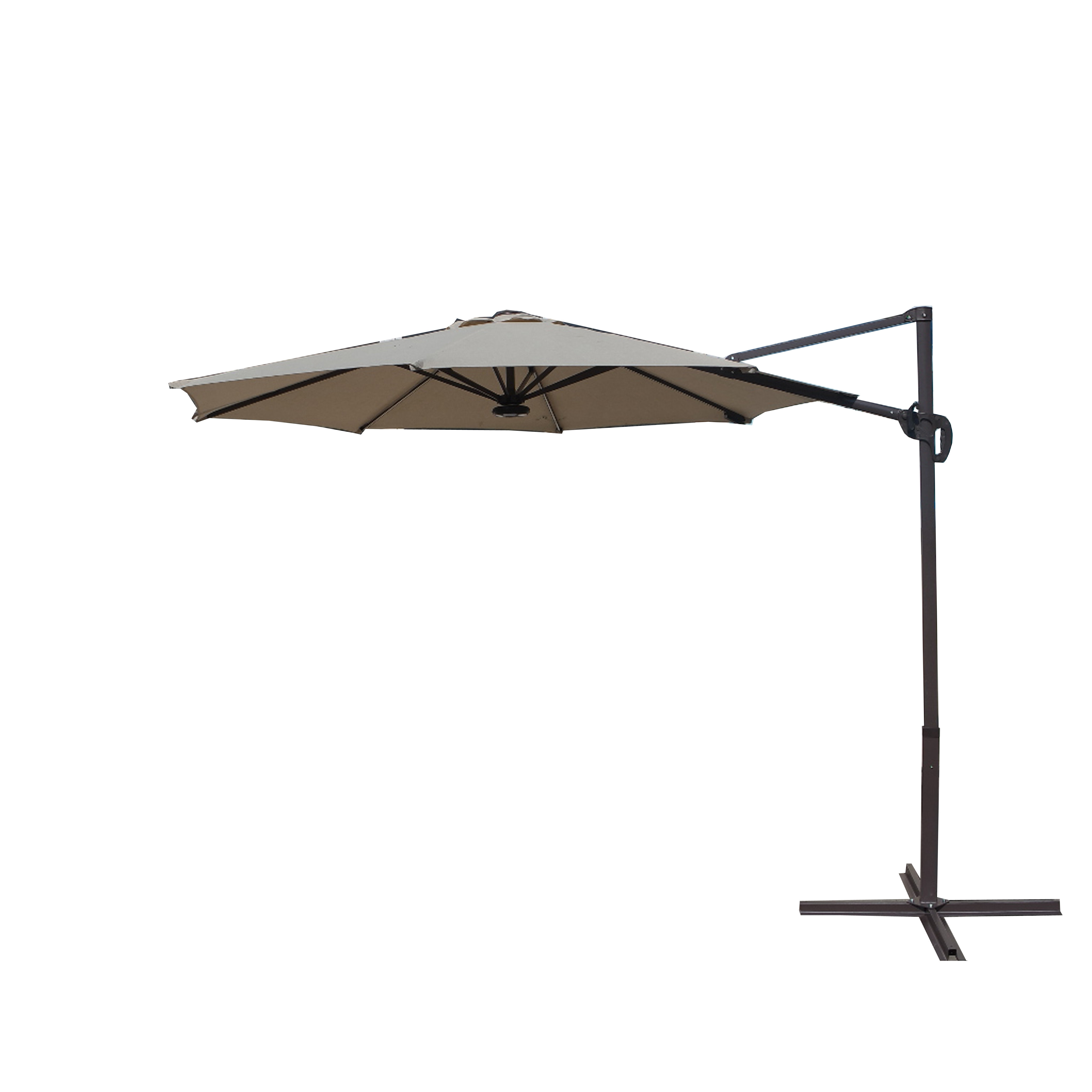 Newest Justis Cantilever Umbrellas Within Corbridge 9' Cantilever Umbrella (Gallery 9 of 20)