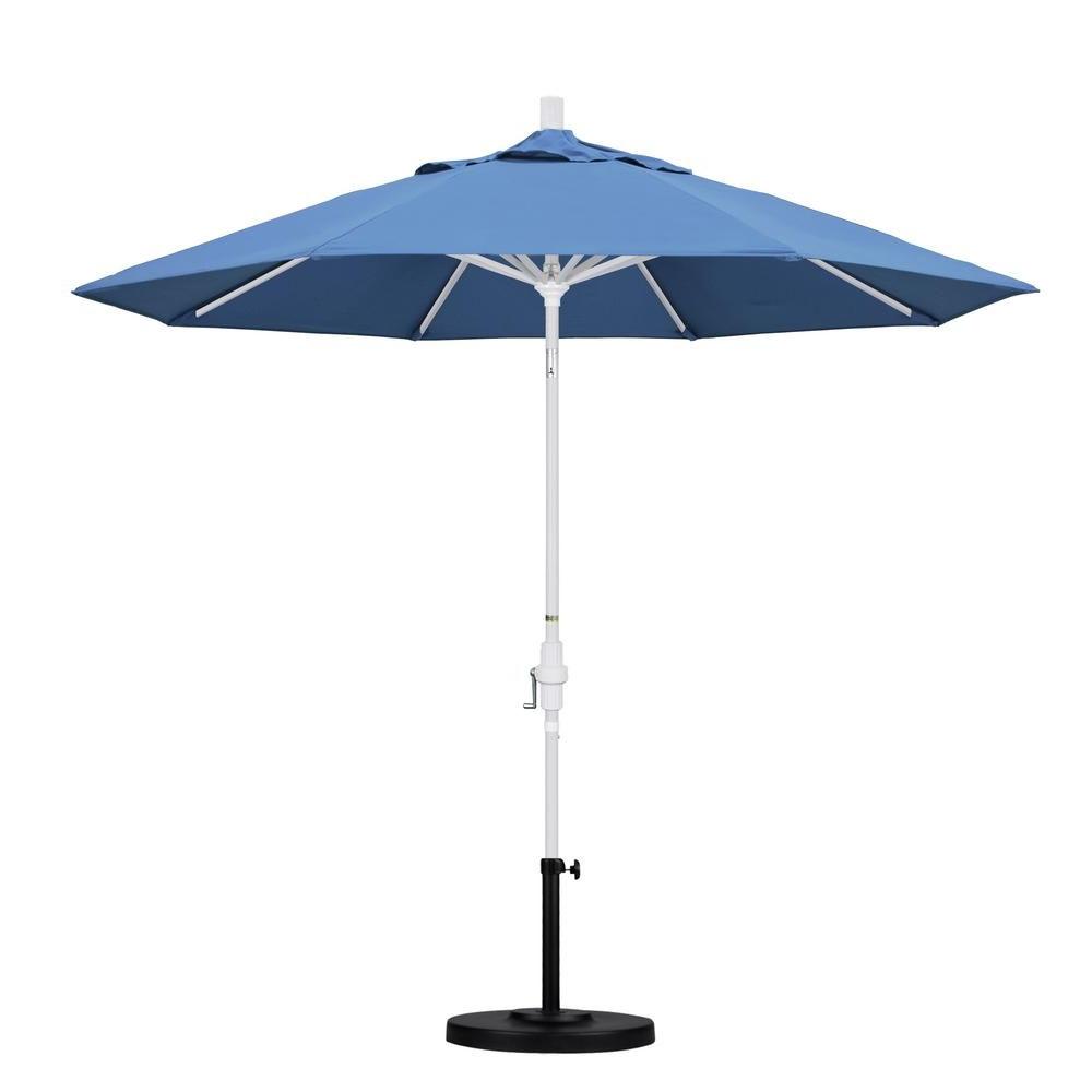 Newest Keegan Market Umbrellas Pertaining To California Umbrella 9 Ft. Aluminum Collar Tilt Patio Umbrella In (Gallery 14 of 20)