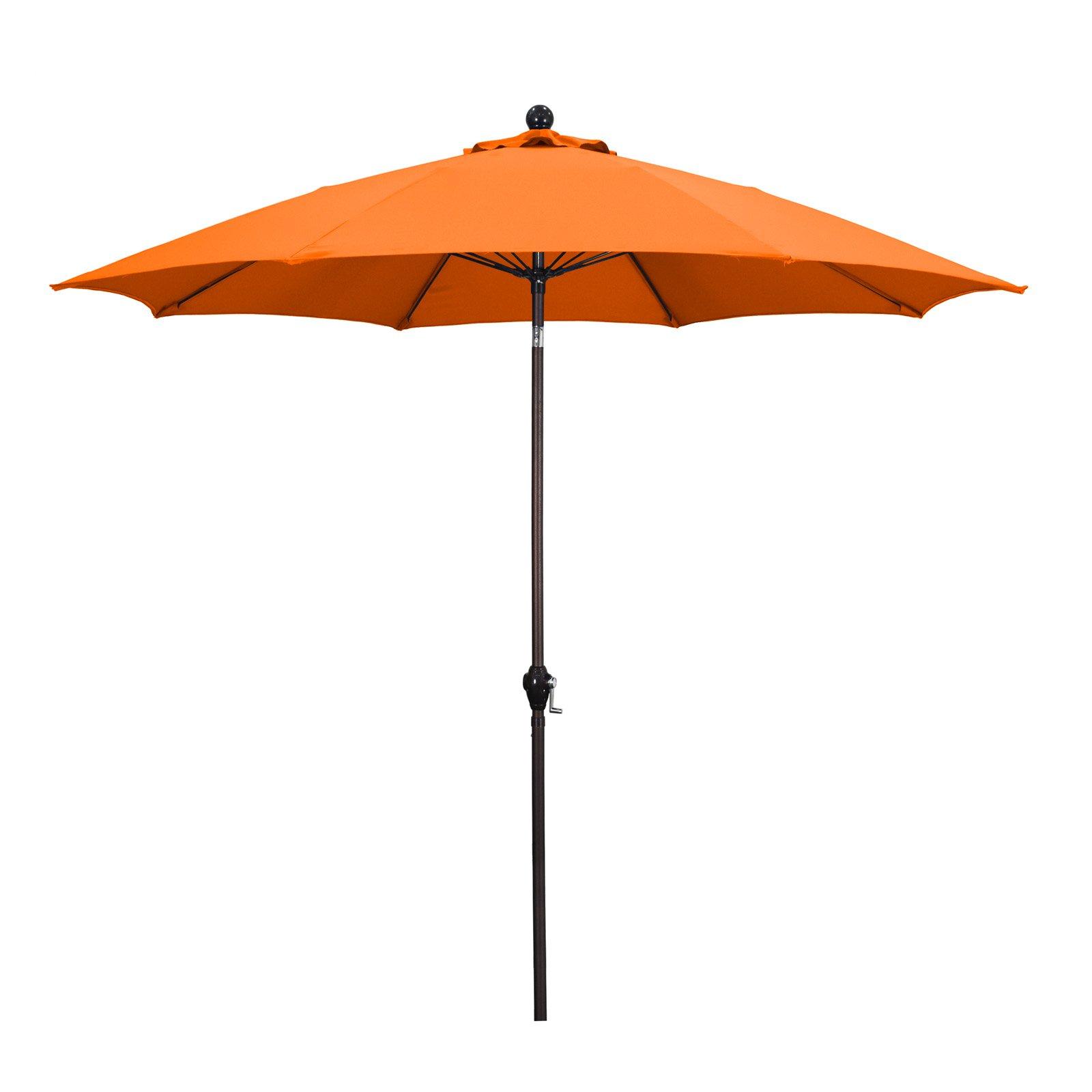 Newest Market Umbrellas With Sunline 9' Patio Market Umbrella In Polyester With Bronze Aluminum Pole Fiberglass Ribs 3 Way Tilt Crank Lift (View 11 of 20)