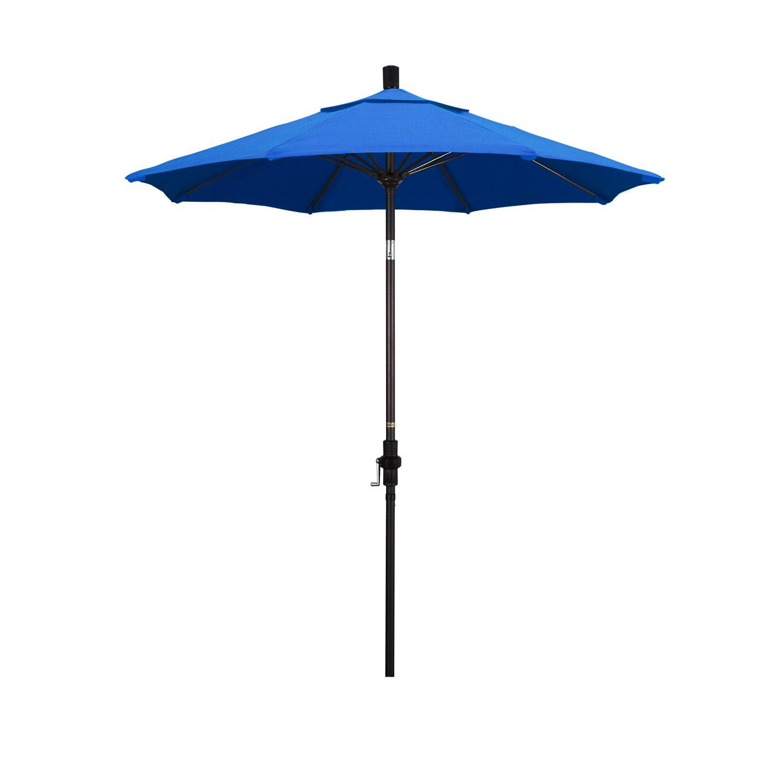 Newest Muldoon Market Umbrellas Within California Umbrella 7.5 Ft. Aluminum Collar Tilt Olefin Patio (Gallery 8 of 20)