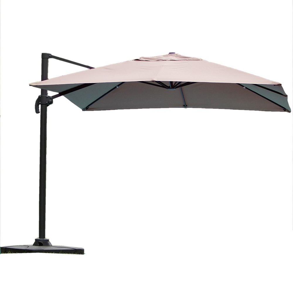 Noble House Royal 10 Ft. Cantilever Patio Umbrella In Beige Throughout Trendy Pau Rectangular Market Umbrellas (Gallery 13 of 20)