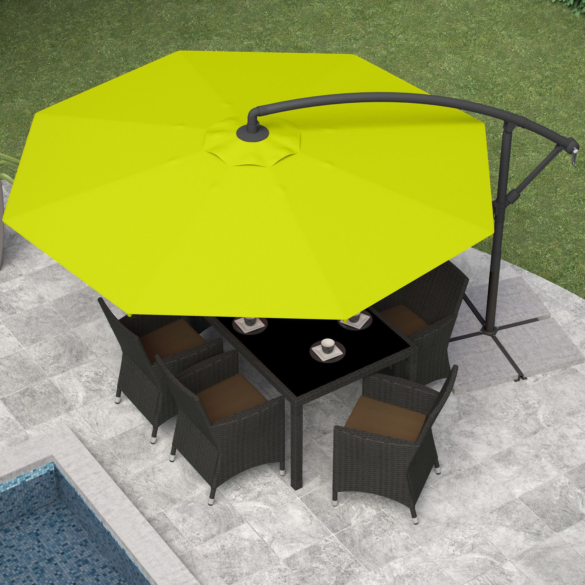 Offset Patio Umbrella (View 4 of 20)