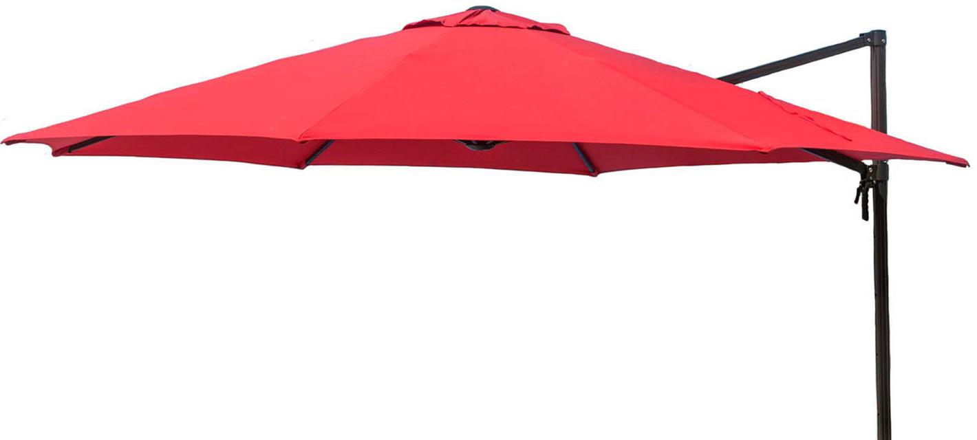 Olen Cantilever Umbrellas In Trendy Barris 11' Cantilever Umbrella (View 14 of 20)