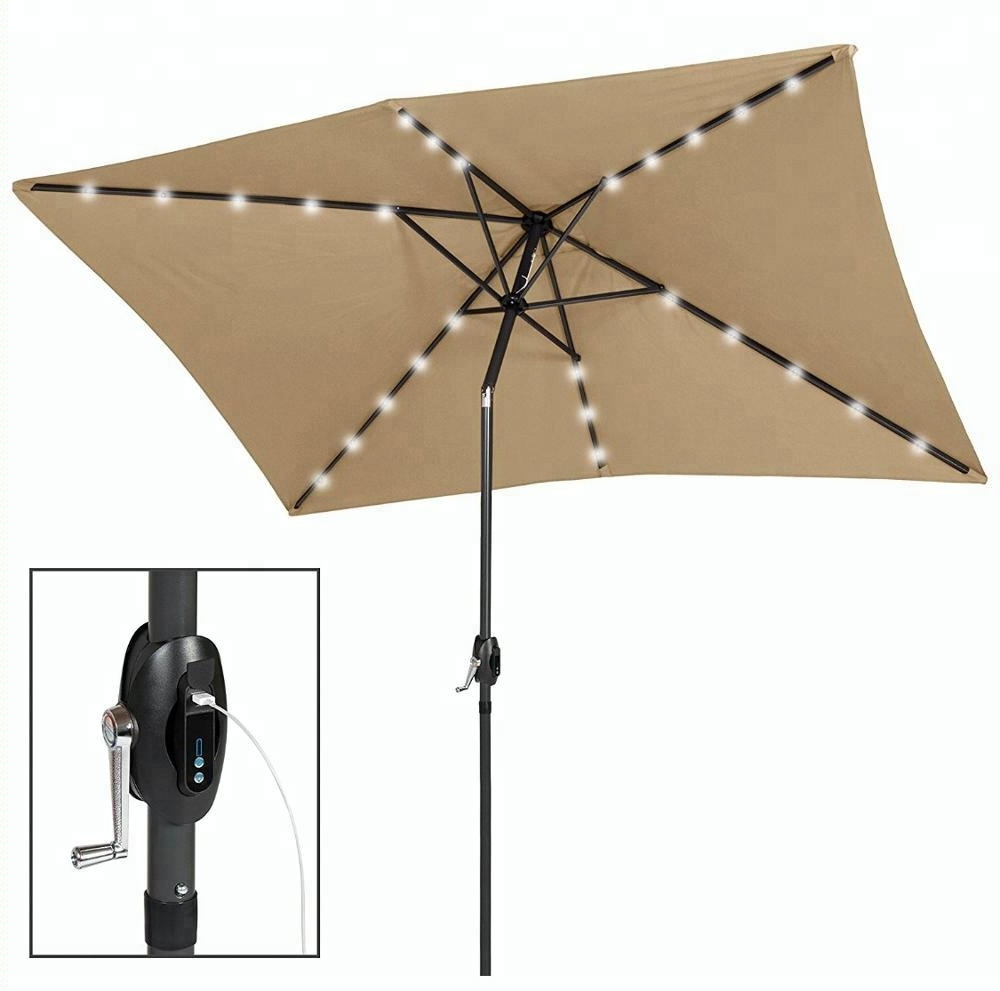Outdoor Patio Heavy Duty Solar Powered Led Lights Umbrella – Buy Solar Umbrella With Led Light,umbrella With Light,patio Umbrellas With Lights Product Throughout Trendy Solar Powered Led Patio Umbrellas (View 16 of 20)