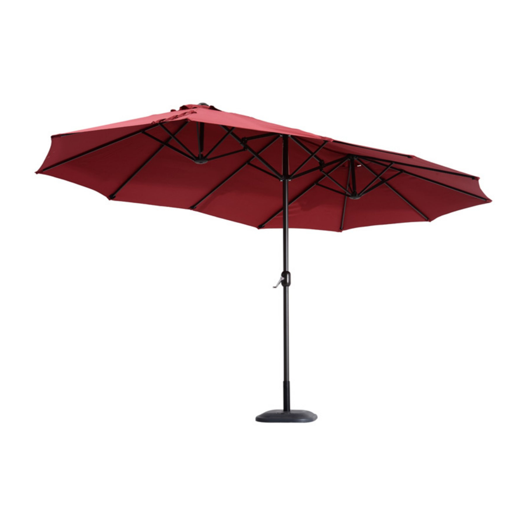 Outsunny 15 Ft. Aluminum Outdoor Patio Market Double Sided Umbrella With Regard To Widely Used Lagasse Market Umbrellas (Gallery 9 of 20)