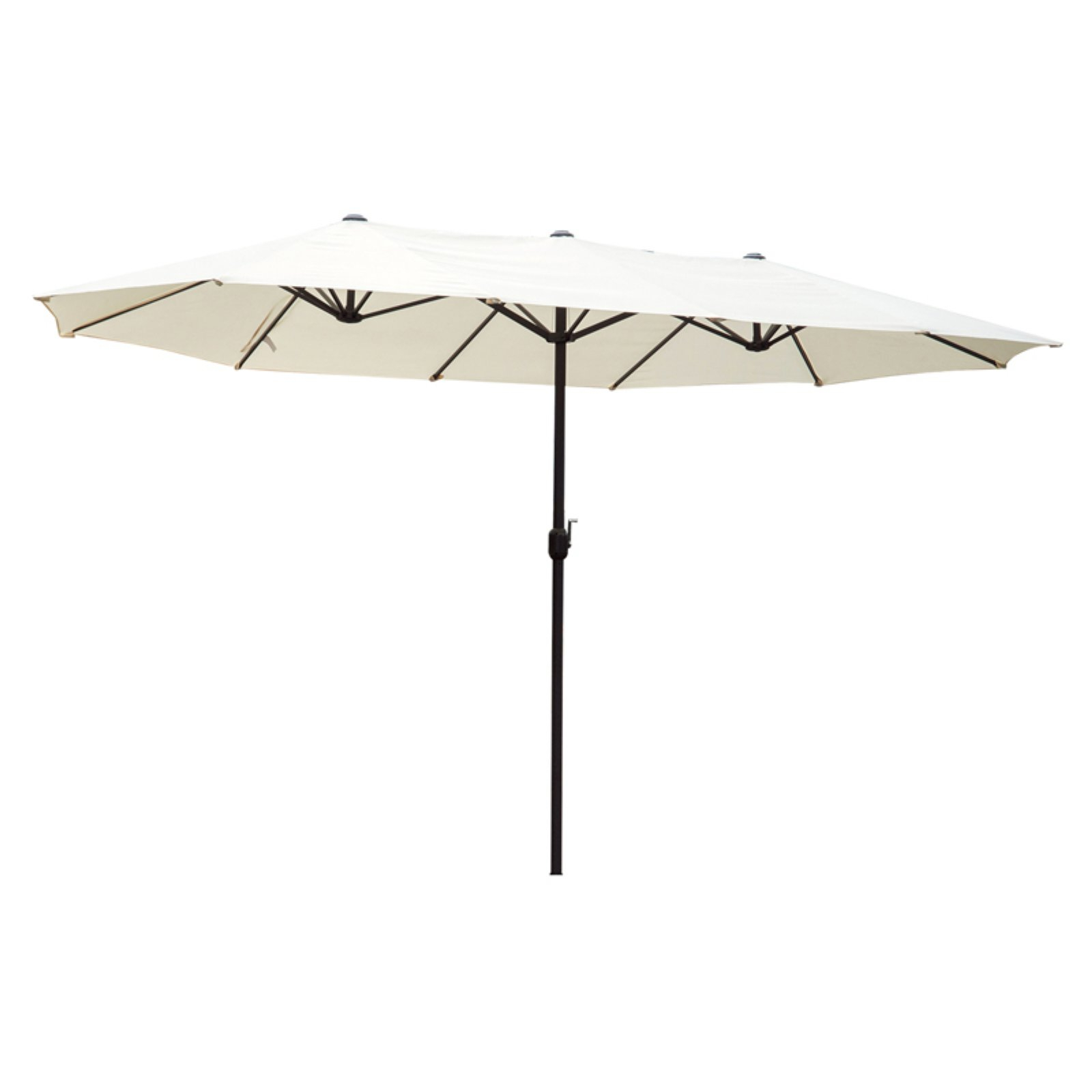 Outsunny 15 Ft. Steel Double Sided Patio Umbrella For Preferred Lagasse Market Umbrellas (Gallery 4 of 20)