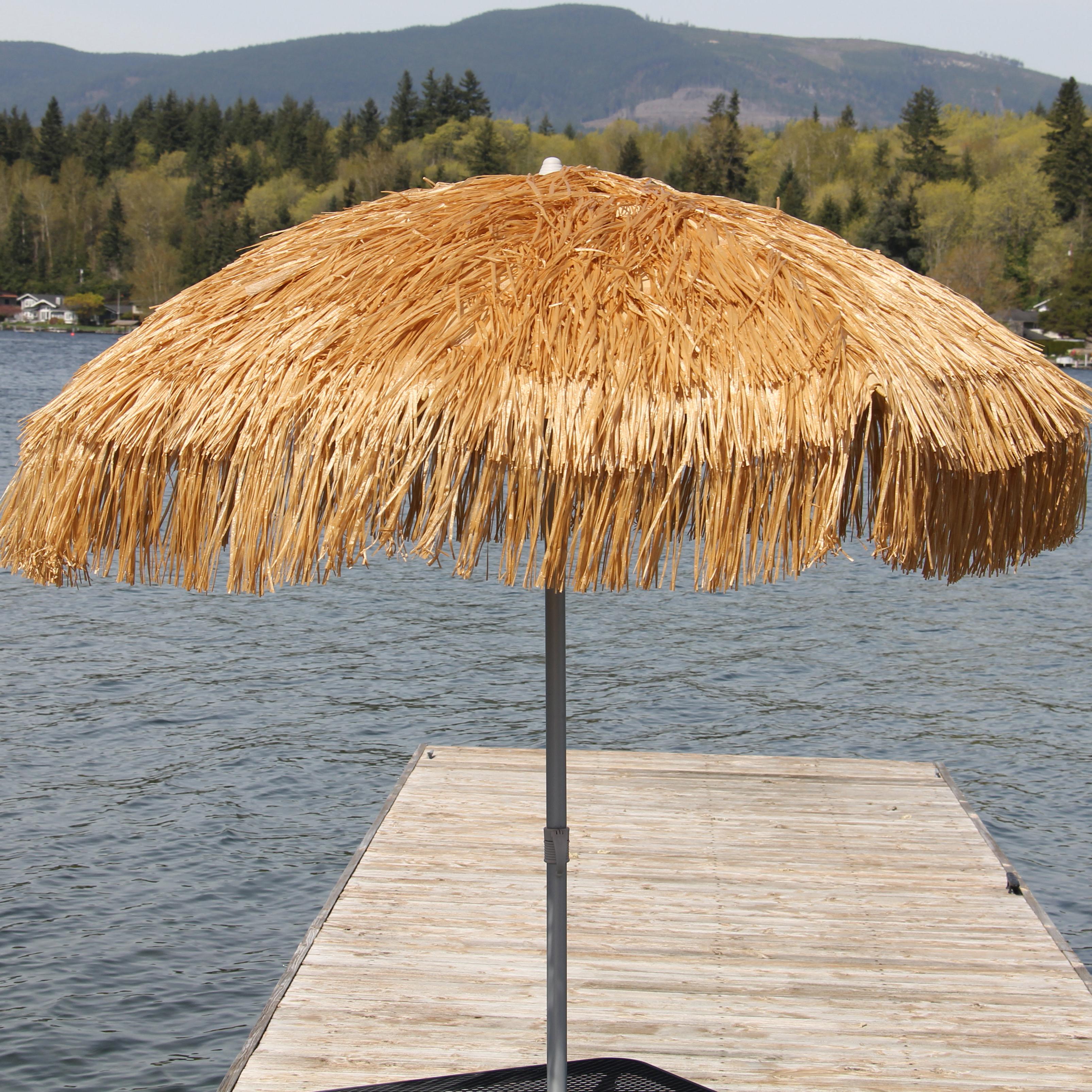 Palapa 6' Beach Umbrella Inside Well Known Leasure Fiberglass Portable Beach Umbrellas (View 17 of 20)