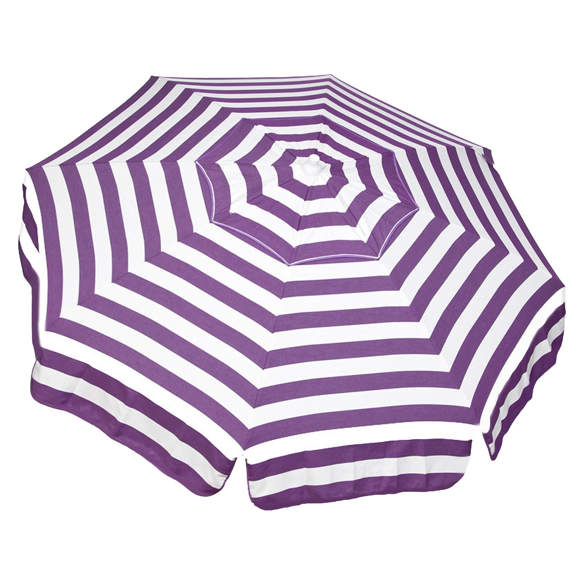 Parasol 6' Italian Aluminum Collar Tilt Beach Umbrella – Purple Within Fashionable Italian Drape Umbrellas (View 14 of 20)