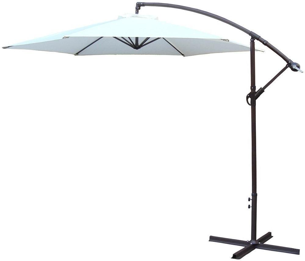 Parasol Sunshade Umbrella Banana Style Folding Easy Storage Patio With 2020 Capresa Market Umbrellas (View 14 of 20)