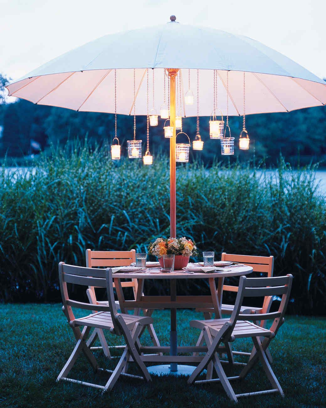Patio Umbrella Lights Pertaining To Caleb Market Umbrellas (View 11 of 20)