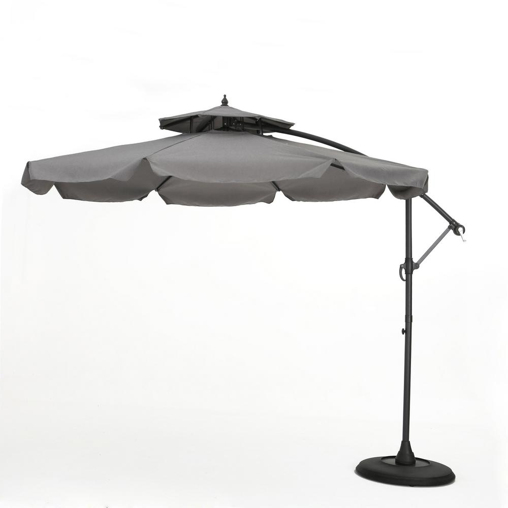 Pau Rectangular Market Umbrellas Throughout Newest Noble House 9.83 Ft (View 11 of 20)