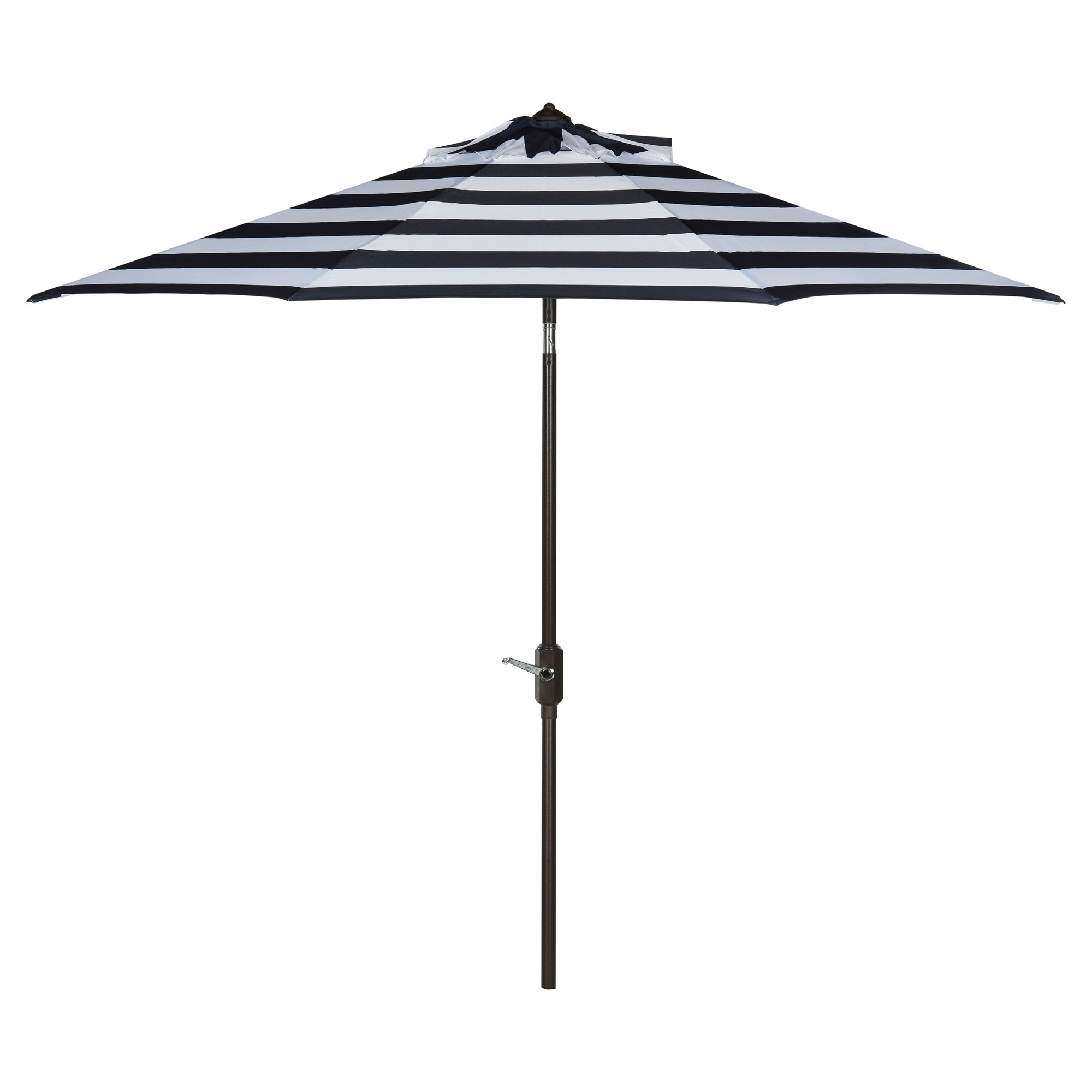 Pedrick Drape Market Umbrellas For Widely Used Iris Fashion Line 9' Umbrella – Navy / White – Safavieh , Blue (View 10 of 20)