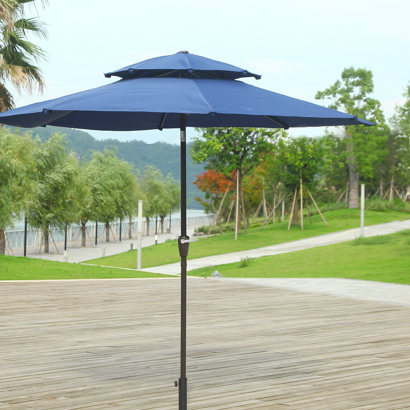 Pedrick Drape Market Umbrellas Regarding Fashionable Dimond 9' Market Umbrella (View 8 of 20)