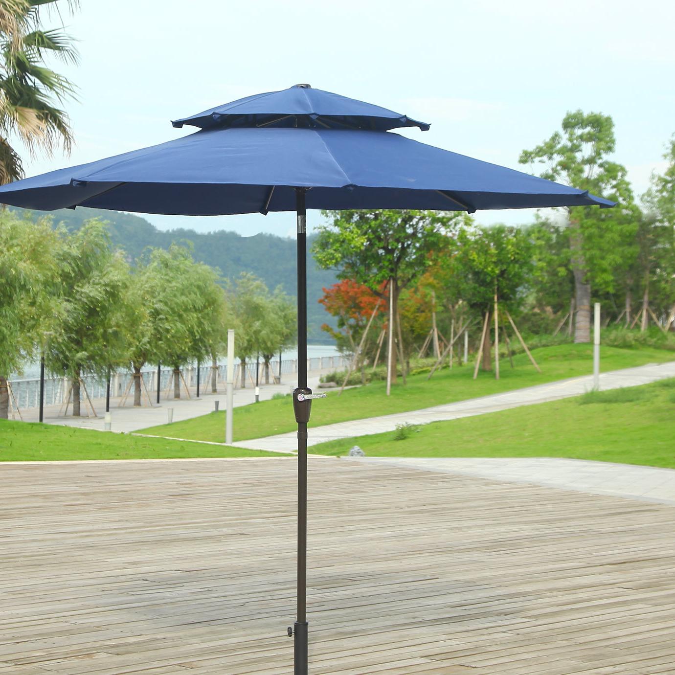 Pedrick Drape Market Umbrellas Regarding Fashionable Dimond 9' Market Umbrella (View 14 of 20)