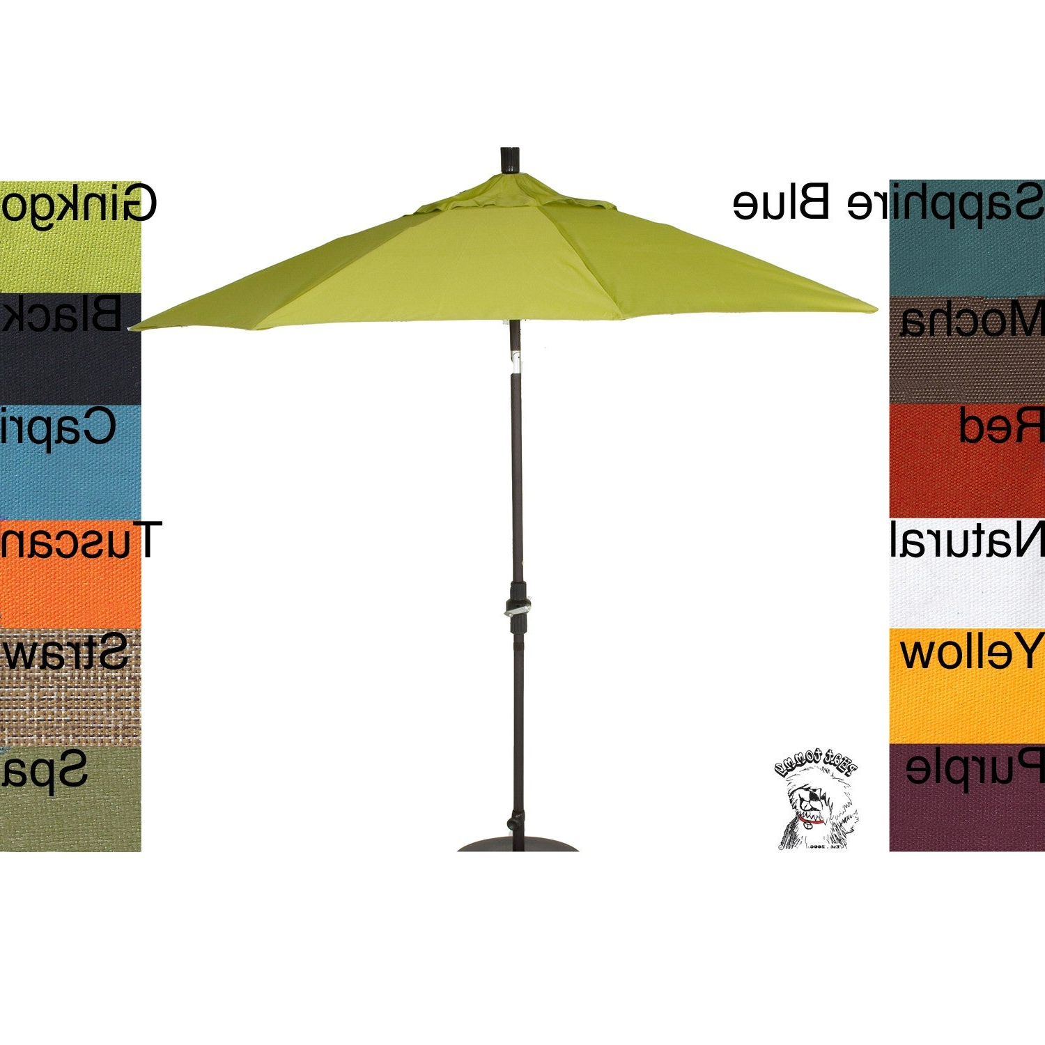 Phat Tommy Cantilever Umbrellas Inside Widely Used Phat Tommy 9 Foot Pacifica Fabric Aluminum Market Patio Umbrella (View 7 of 20)