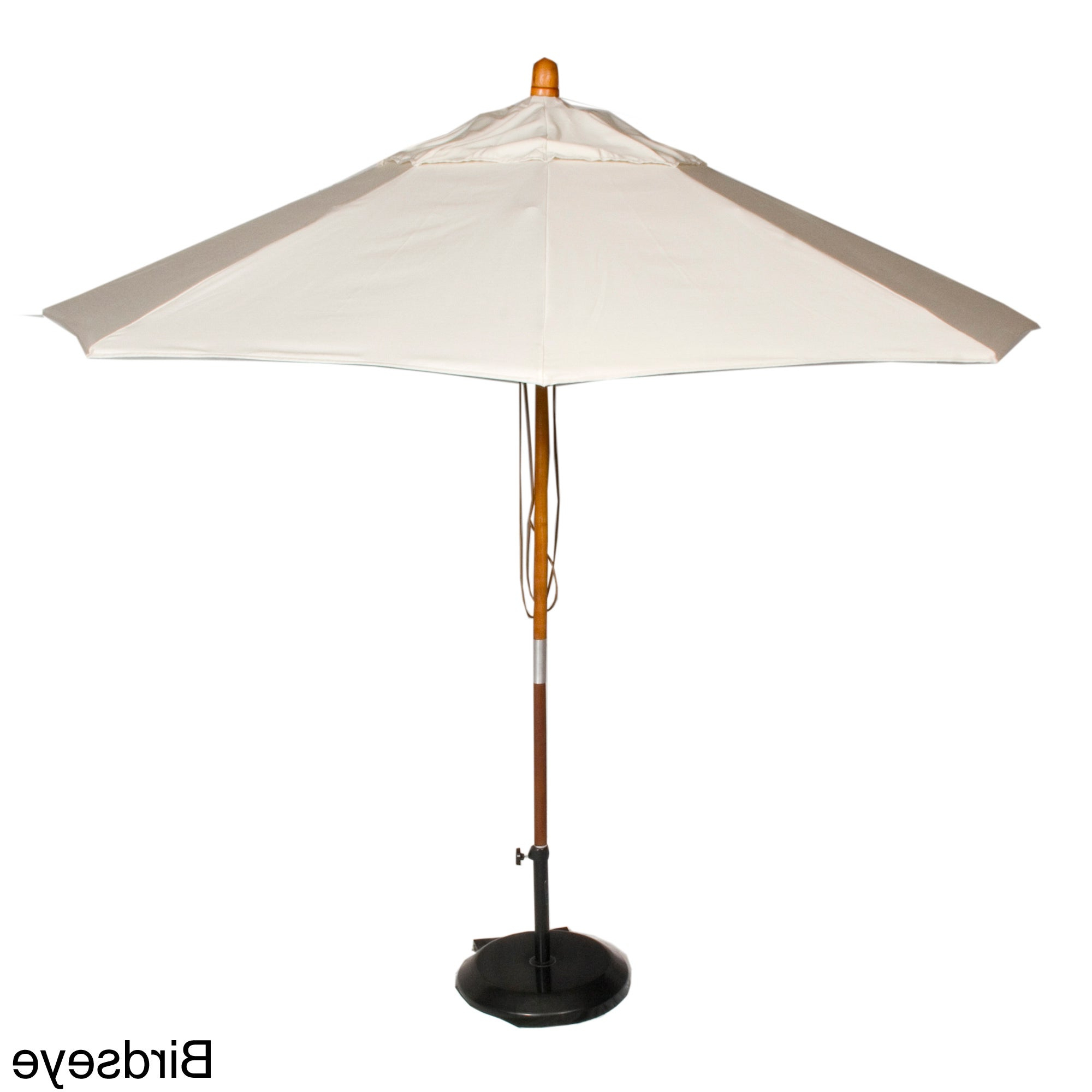 Phat Tommy Cantilever Umbrellas Throughout Newest Phat Tommy 9 Foot Sunbrella Fabric Marenti Wood Market Patio Umbrella (View 3 of 20)