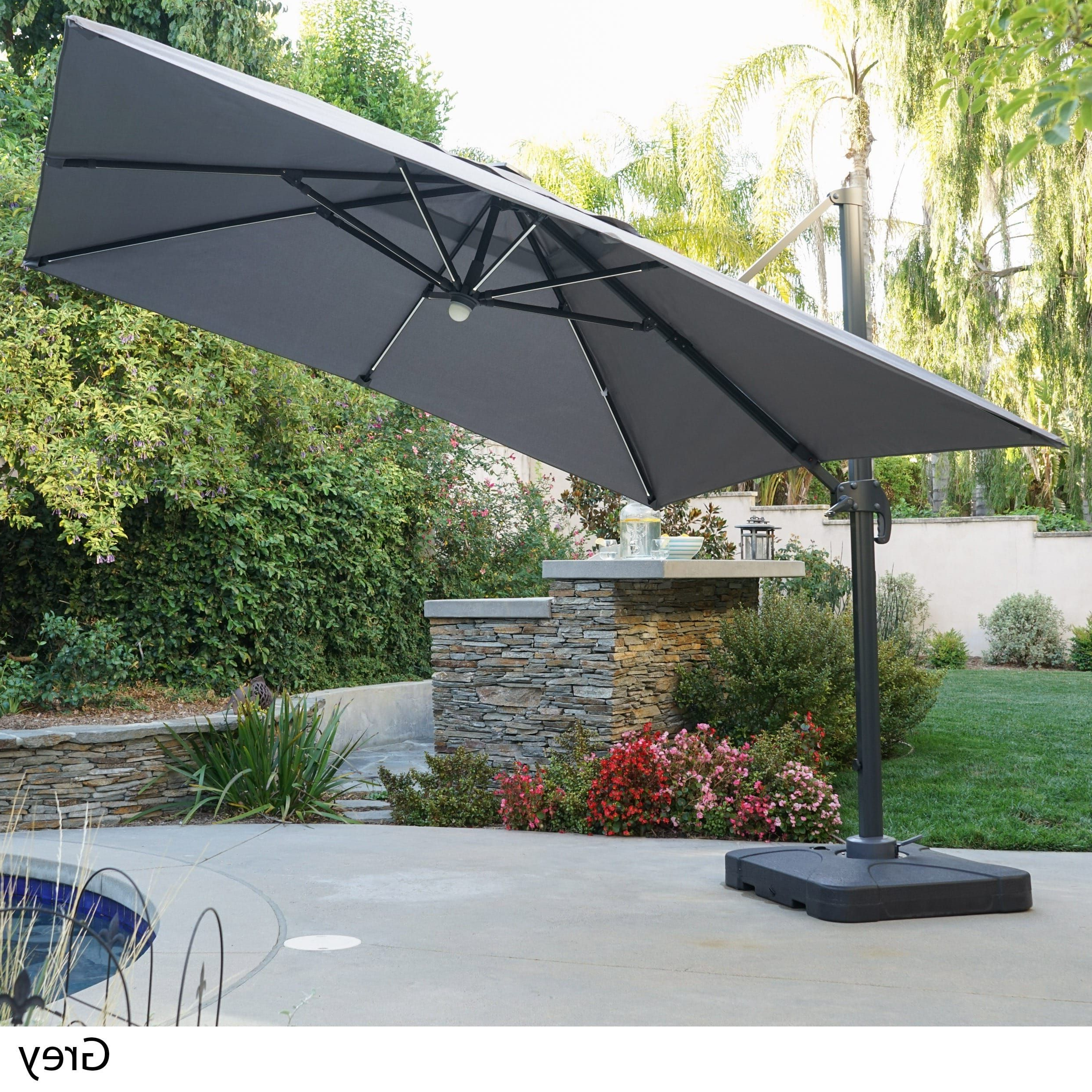 Popular Bondi Square Cantilever Umbrellas Pertaining To Delray Outdoor 9.7 Ft (View 15 of 20)
