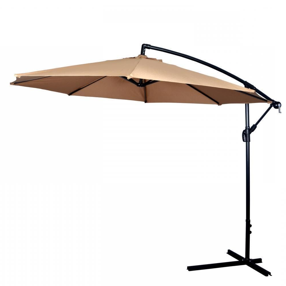 Popular Details About New 10' Patio Umbrella Offset Hanging Umbrella Outdoor Within Jericho Market Umbrellas (View 8 of 20)