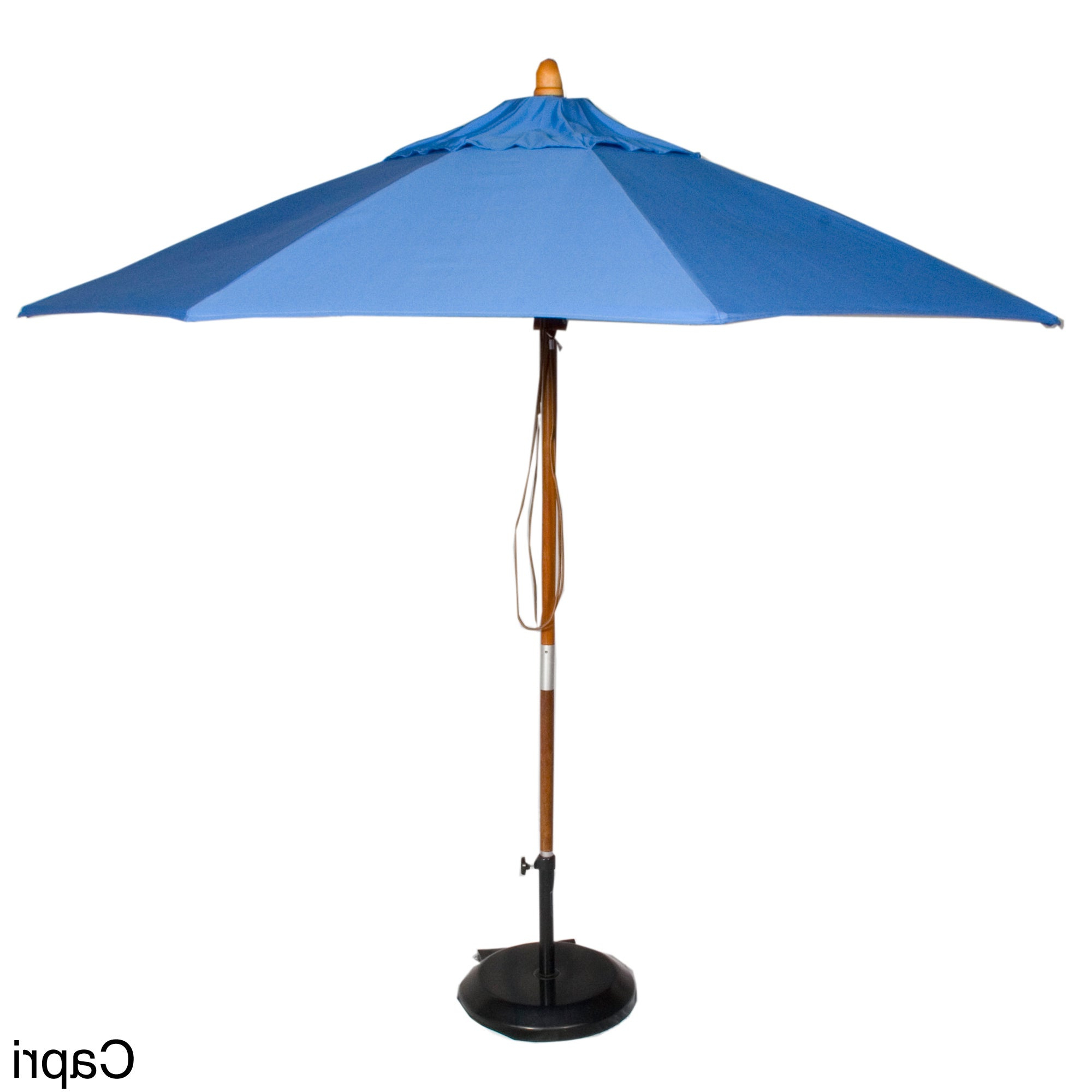 Popular Phat Tommy Cantilever Umbrellas For Phat Tommy 9 Foot Sunbrella Fabric Marenti Wood Market Patio Umbrella (View 14 of 20)