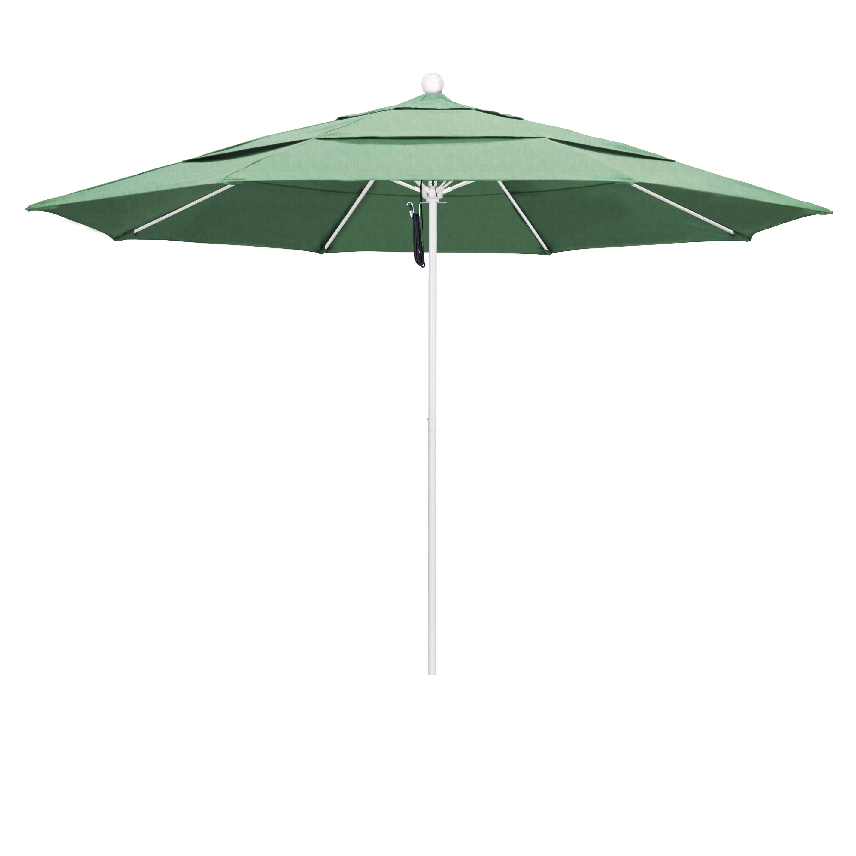 Popular Sol 72 Outdoor Caravelle 11' Market Umbrella With Featherste Market Umbrellas (View 11 of 20)