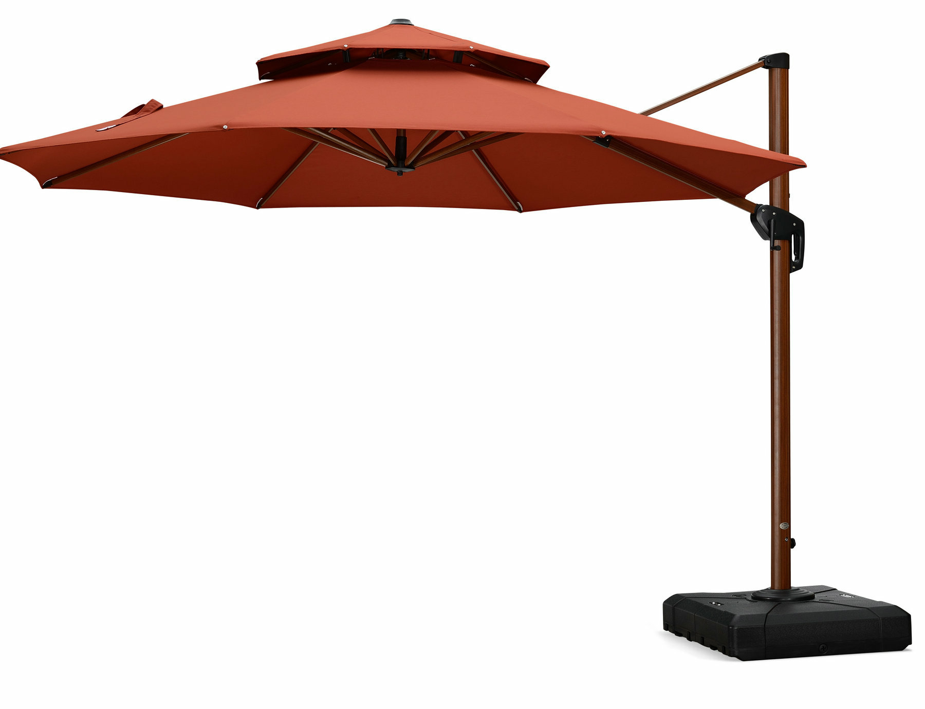 Popular Vogt 11' Cantilever Umbrella With Mablethorpe Cantilever Umbrellas (View 20 of 20)