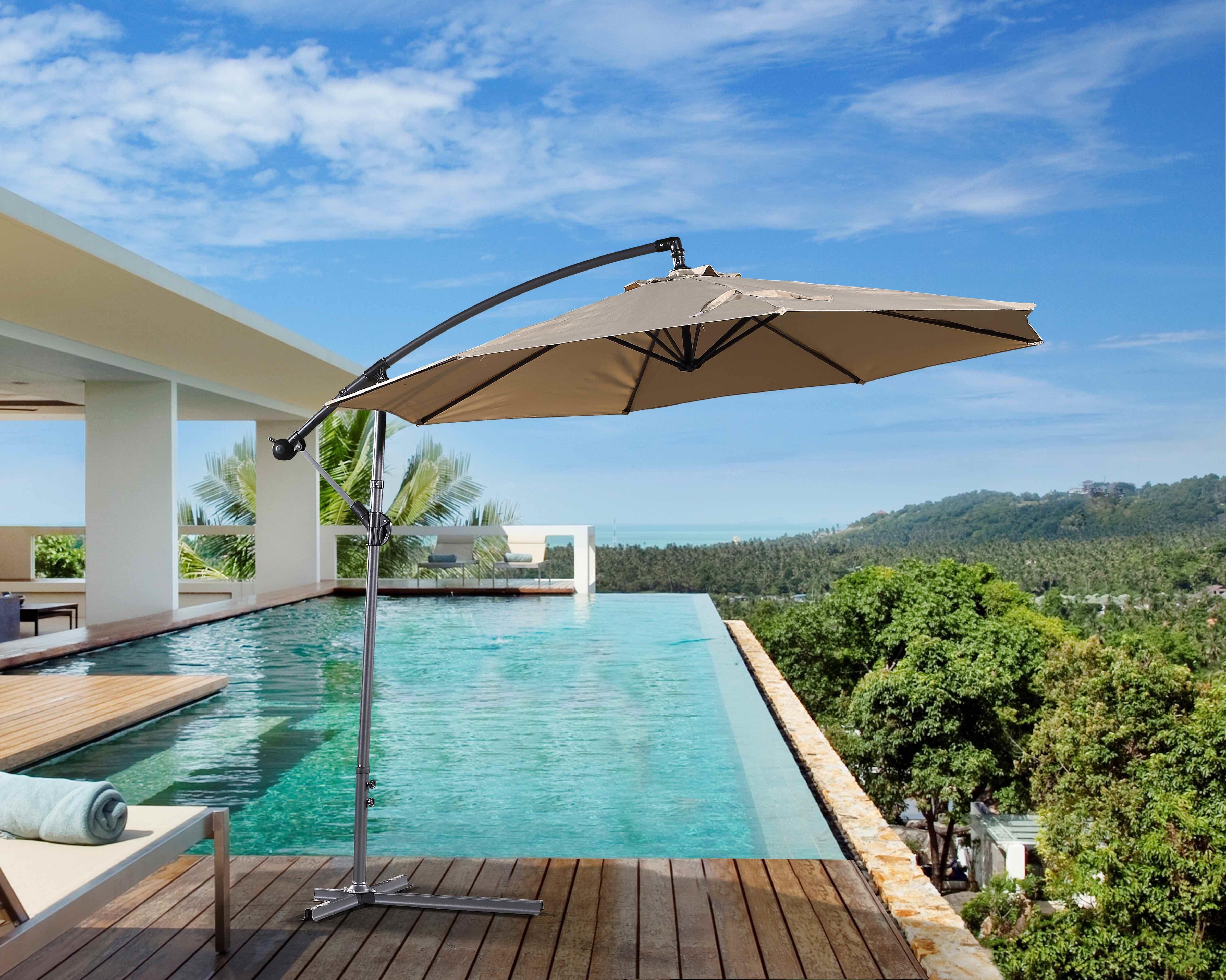 Preferred Dore Patio 10' Cantilever Umbrella For Dore Patio Cantilever Umbrellas (View 17 of 20)