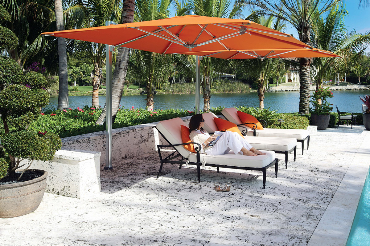 Preferred Madalyn Rectangular Market Sunbrella Umbrellas With Regard To Tuuci Ocean Master Max Cantilever Parasol (View 11 of 20)