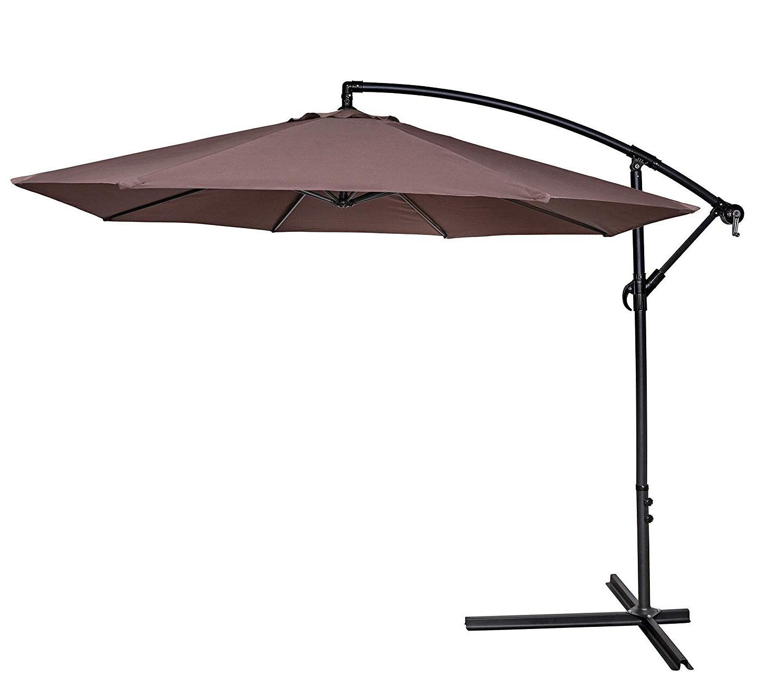 Preferred Maglione Fabric 4cantilever Umbrellas In Kramer 10' Cantilever Umbrella (View 17 of 20)