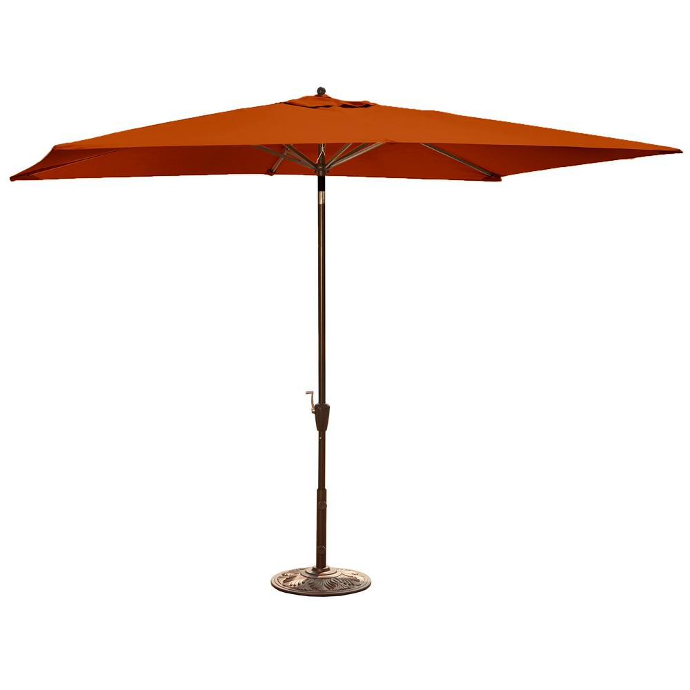 Preferred Solid Rectangular Market Umbrellas Inside Island Umbrella Adriatic 6.5 Ft. X 10 Ft (View 11 of 20)