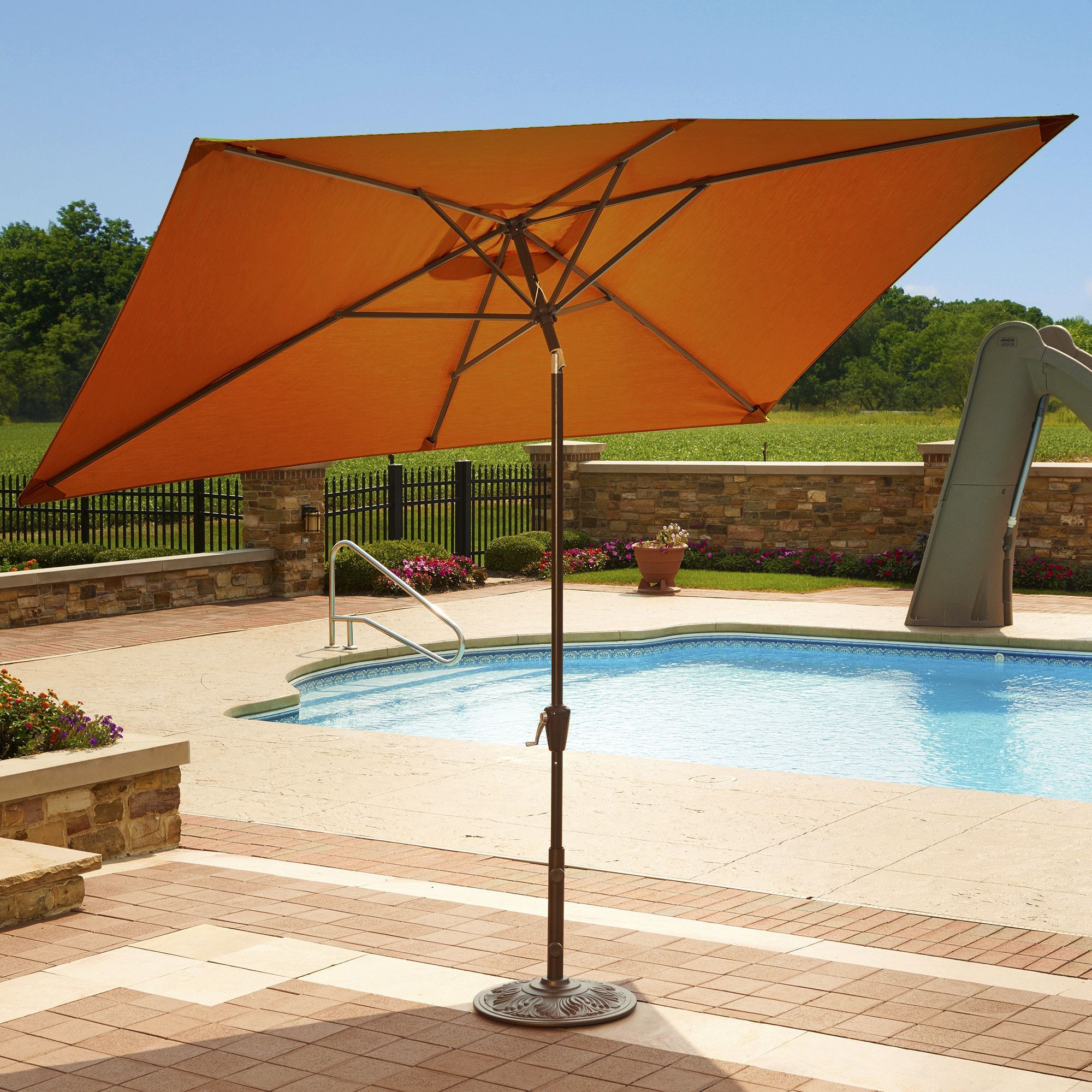 Products With Dena Rectangular Market Umbrellas (View 5 of 20)